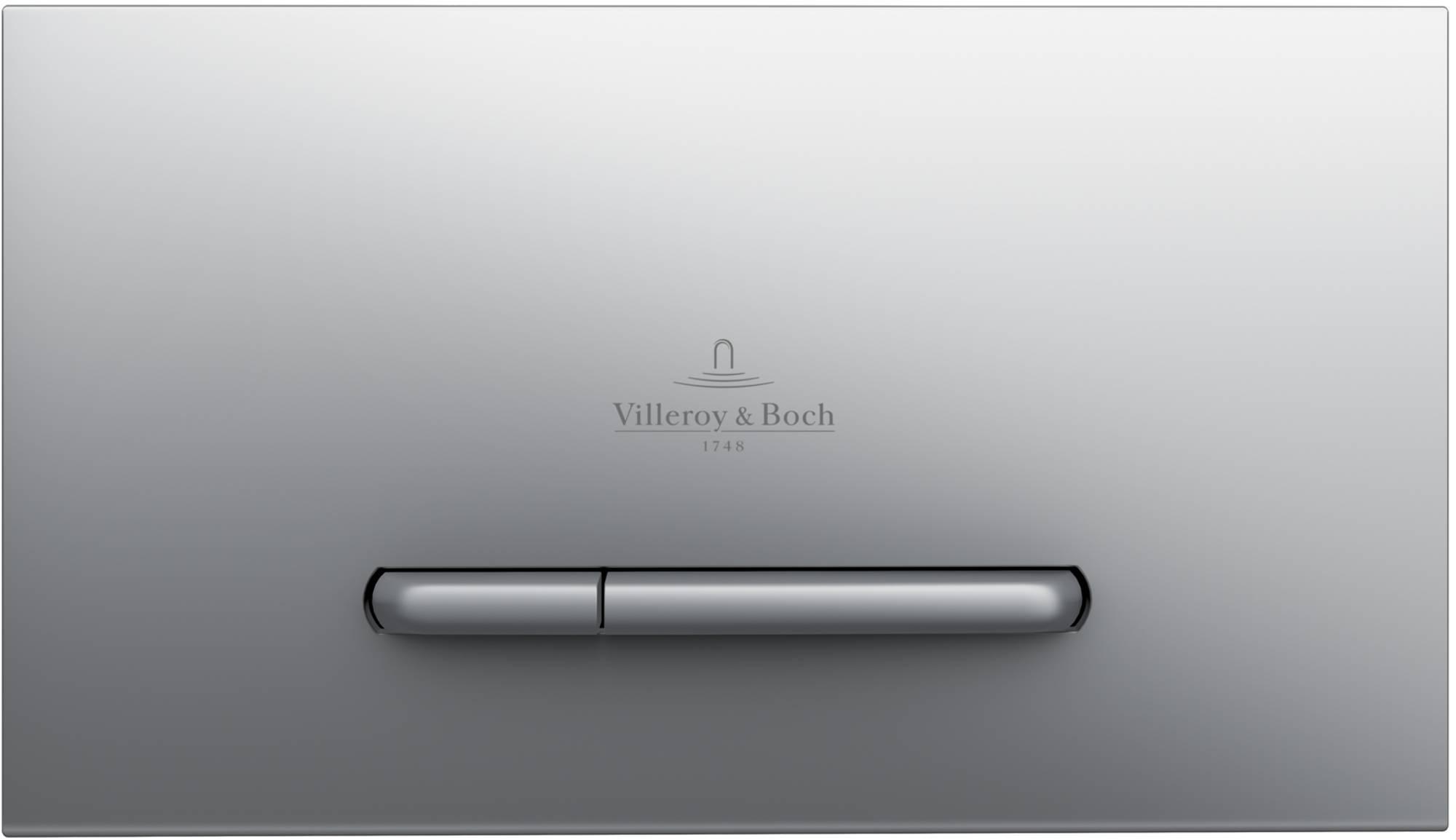 Villeroy & Boch ViConnect WC-Bedieningsplaat 25,3x14,5 cm Chroom Edelmat