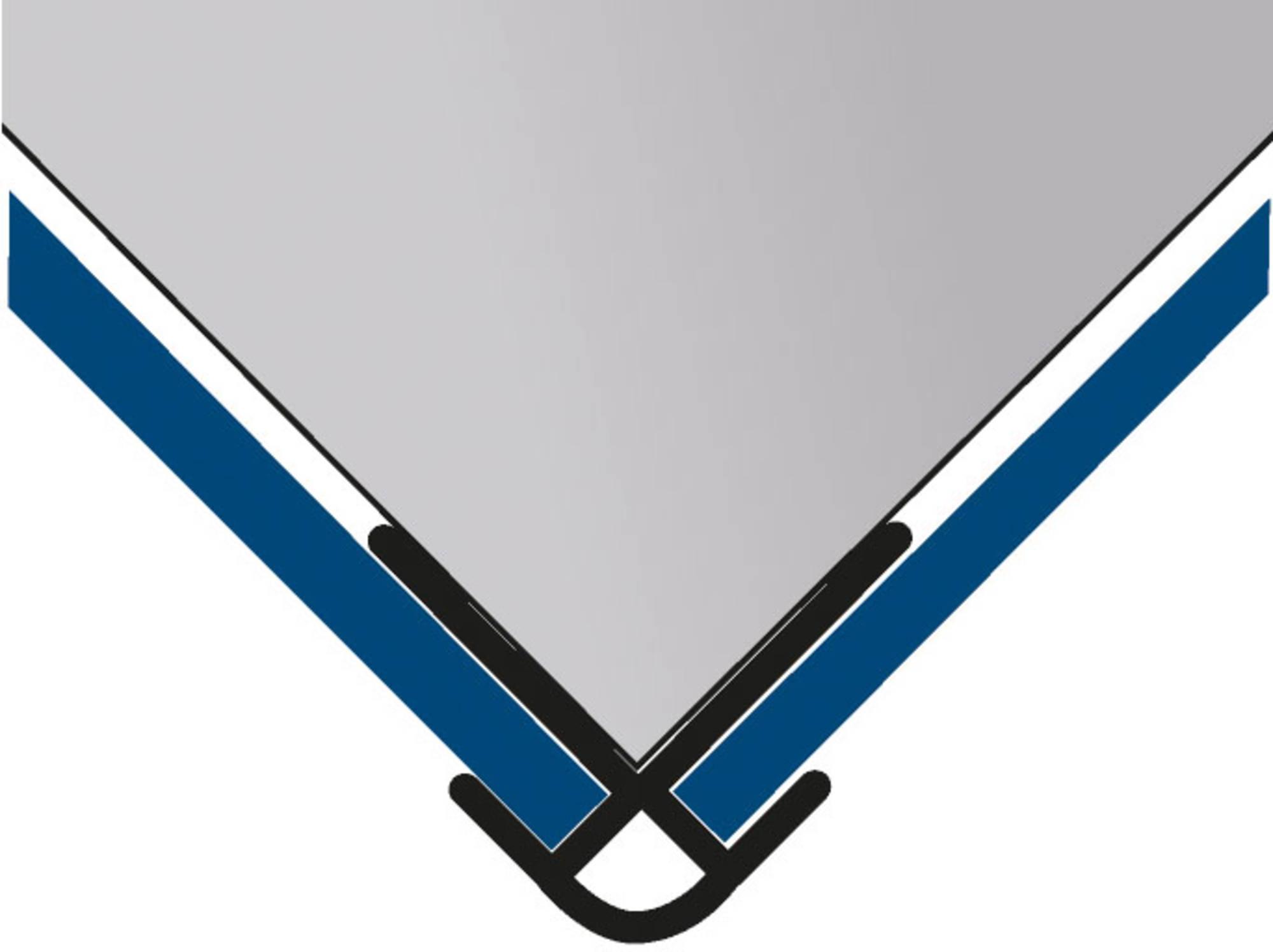 Duschprofi RenoDeco Hoekprofiel buiten 2,3x255 cm mat zilver