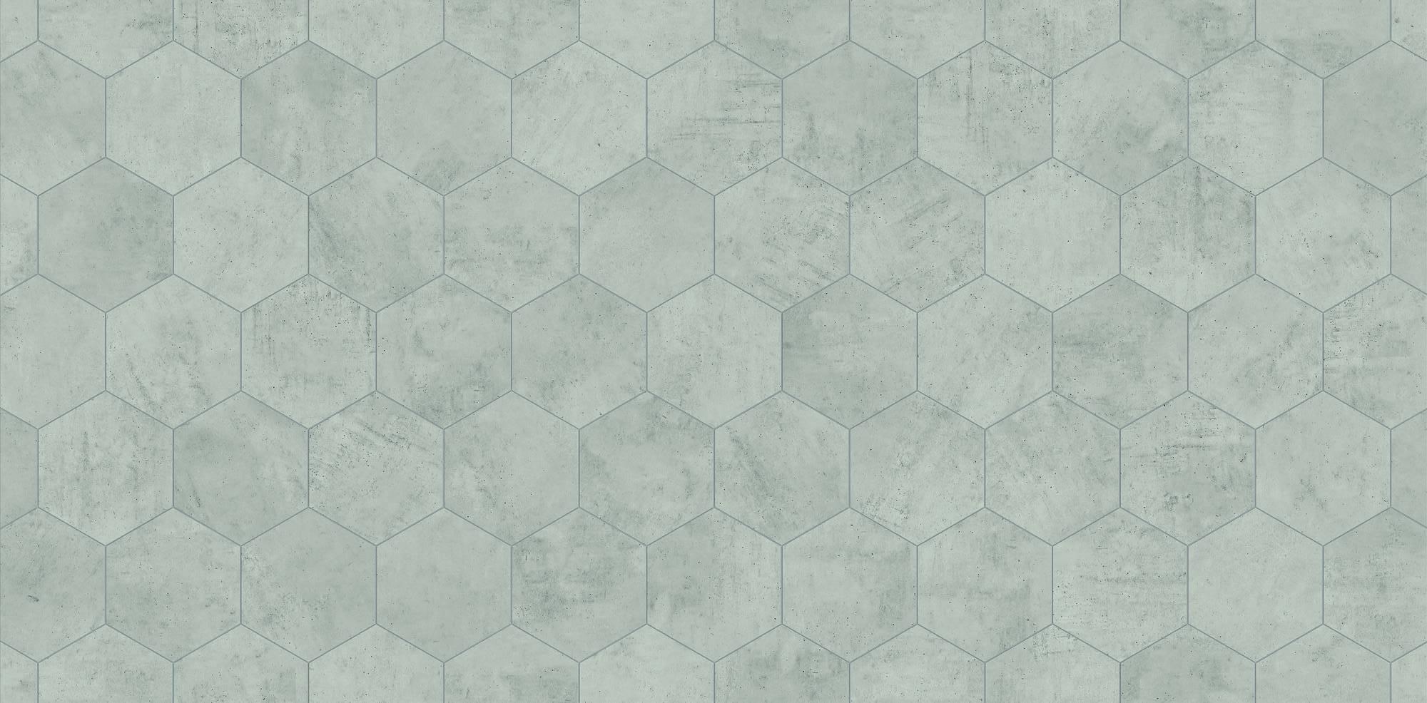 Duschprofi RenoDeco Designpaneel 100x255 cm Hexagon Grijs