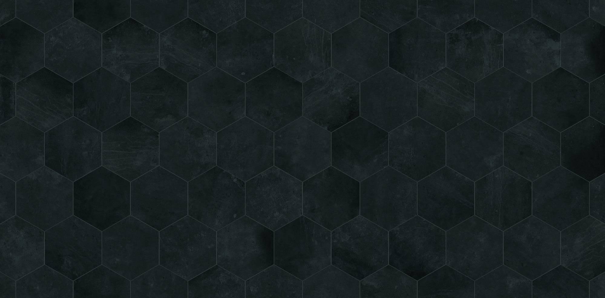 Duschprofi RenoDeco Designpaneel 100x255 cm Hexagon Antraciet