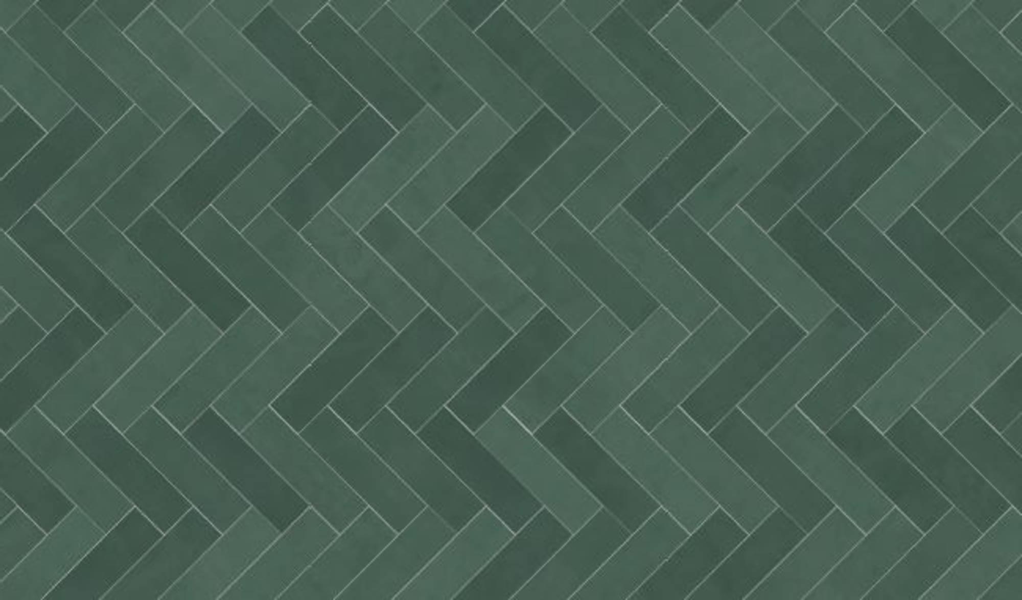 Duschprofi RenoDeco Designpaneel 100x255 cm Visgraat Groen