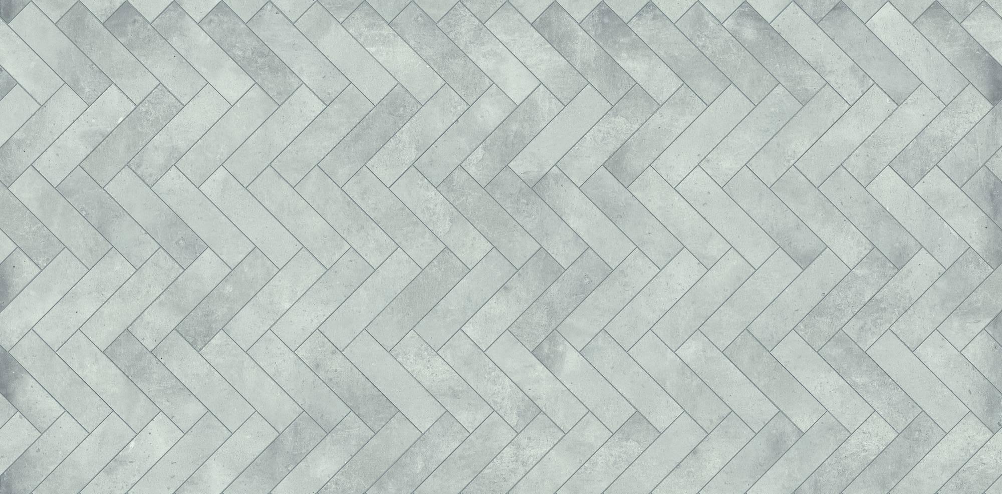 Duschprofi RenoDeco Designpaneel 100x255 cm Visgraat Grijs