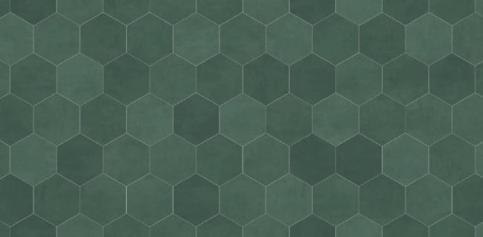 Duschprofi RenoDeco Designpaneel 150x255 cm Hexagon Groen