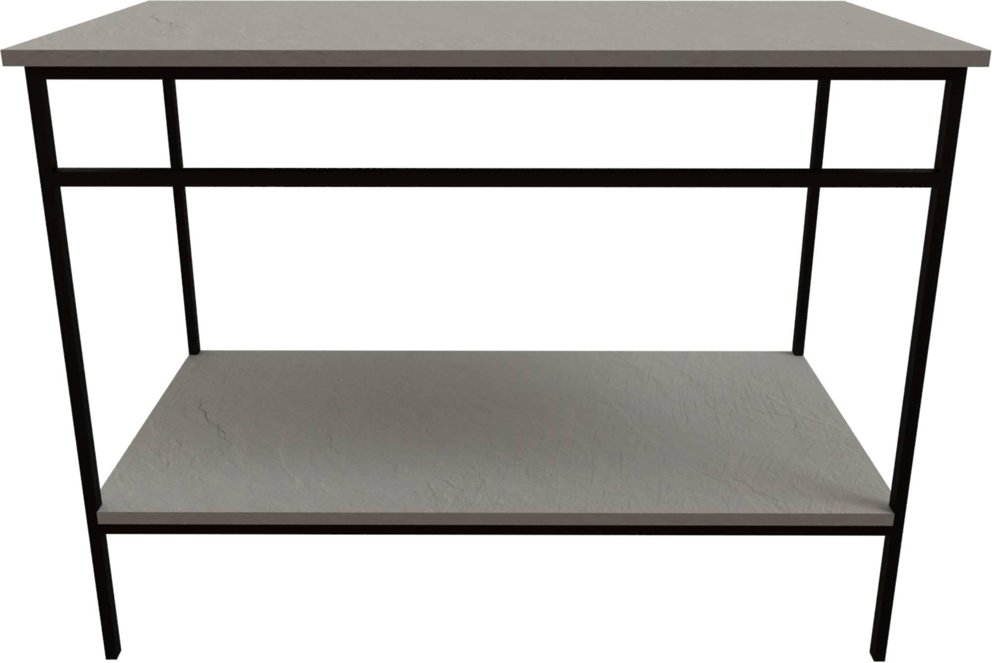 Ben Avira Set Staand Frame met Blad 80,3x46,5x85 cm Mat Zwart/Cement Grijs