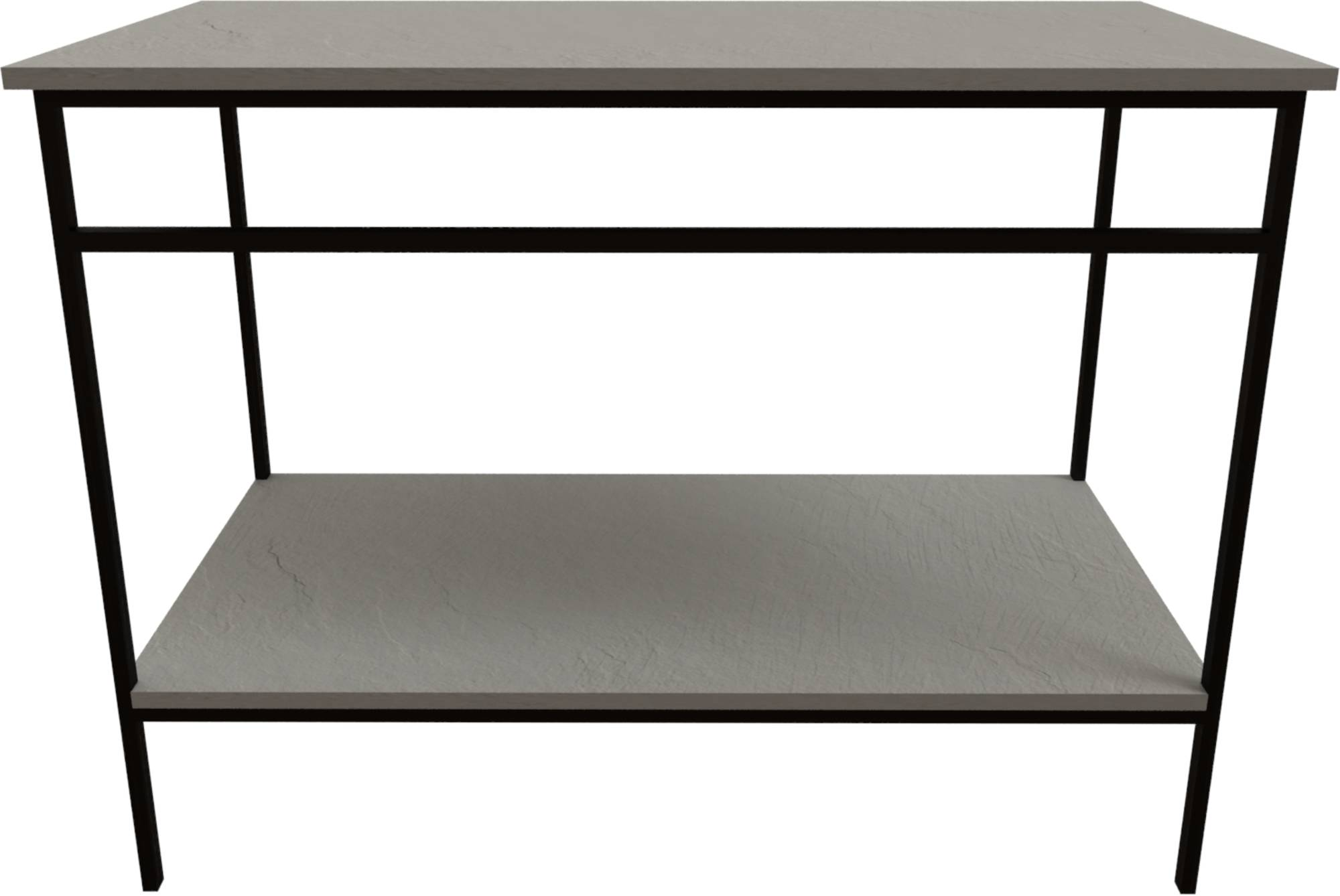 Ben Avira Set Staand Frame met Blad 100,3x46,5x85 cm Mat Zwart/Cement Grijs