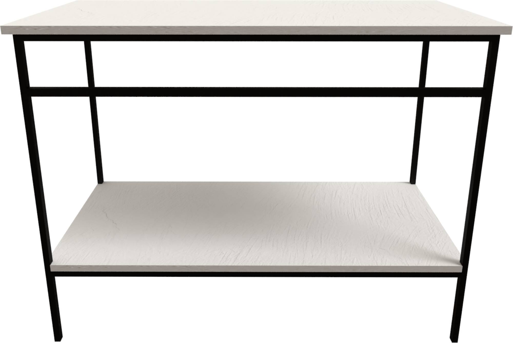 Ben Avira Set Staand Frame met Blad 80,3x46,5x85 cm Mat Zwart/Glans Wit