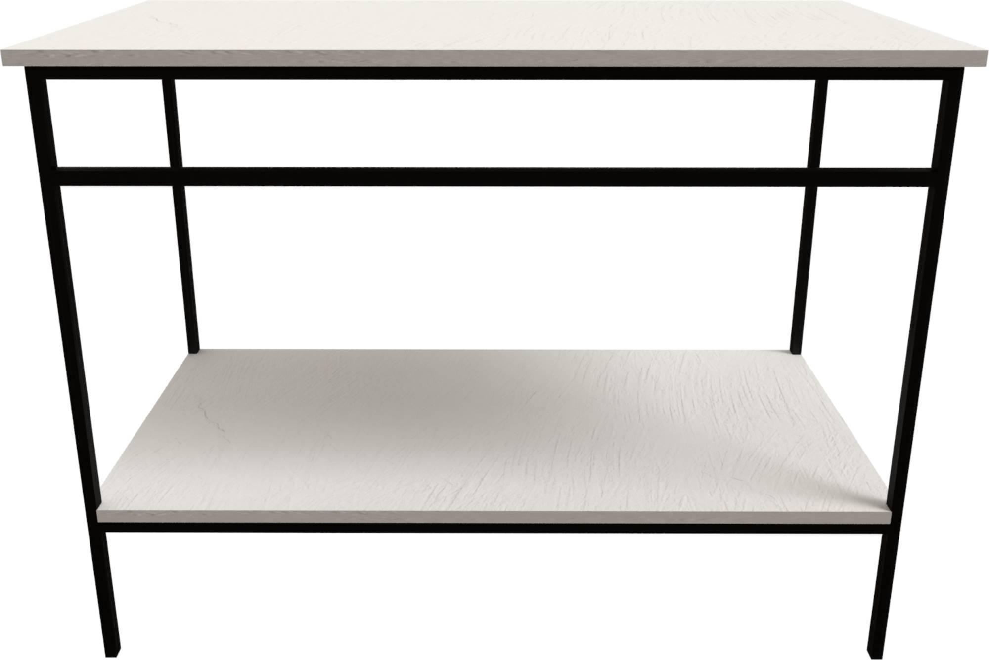 Ben Avira Set Staand Frame met Blad 120,3x46,5x85 cm Mat Zwart/Glans Wit