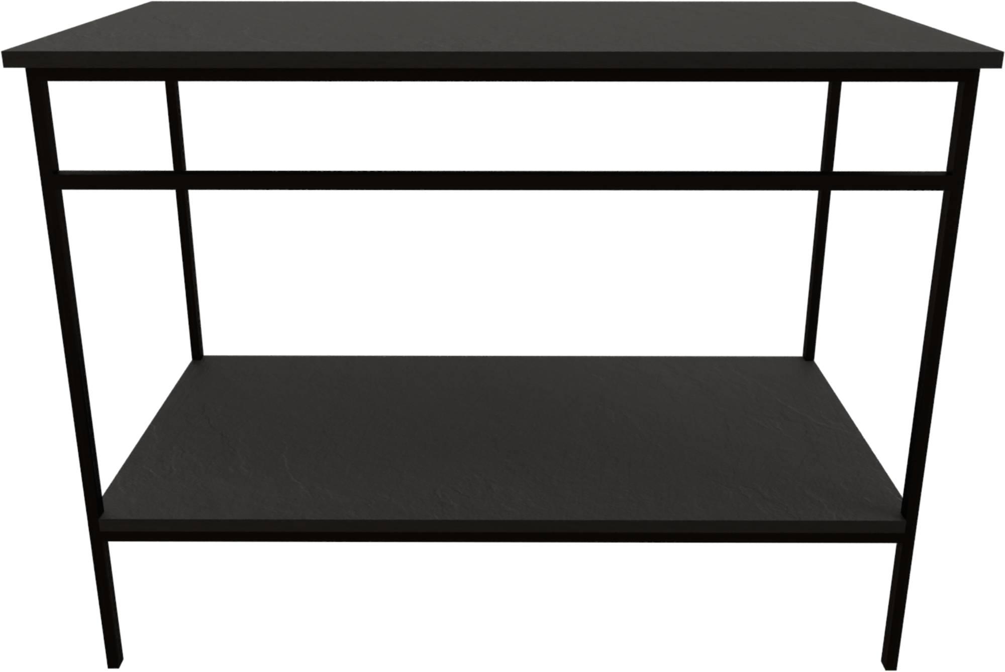 Ben Avira Set Staand Frame met Blad 120,3x46,5x85 cm Mat Zwart/Zwart