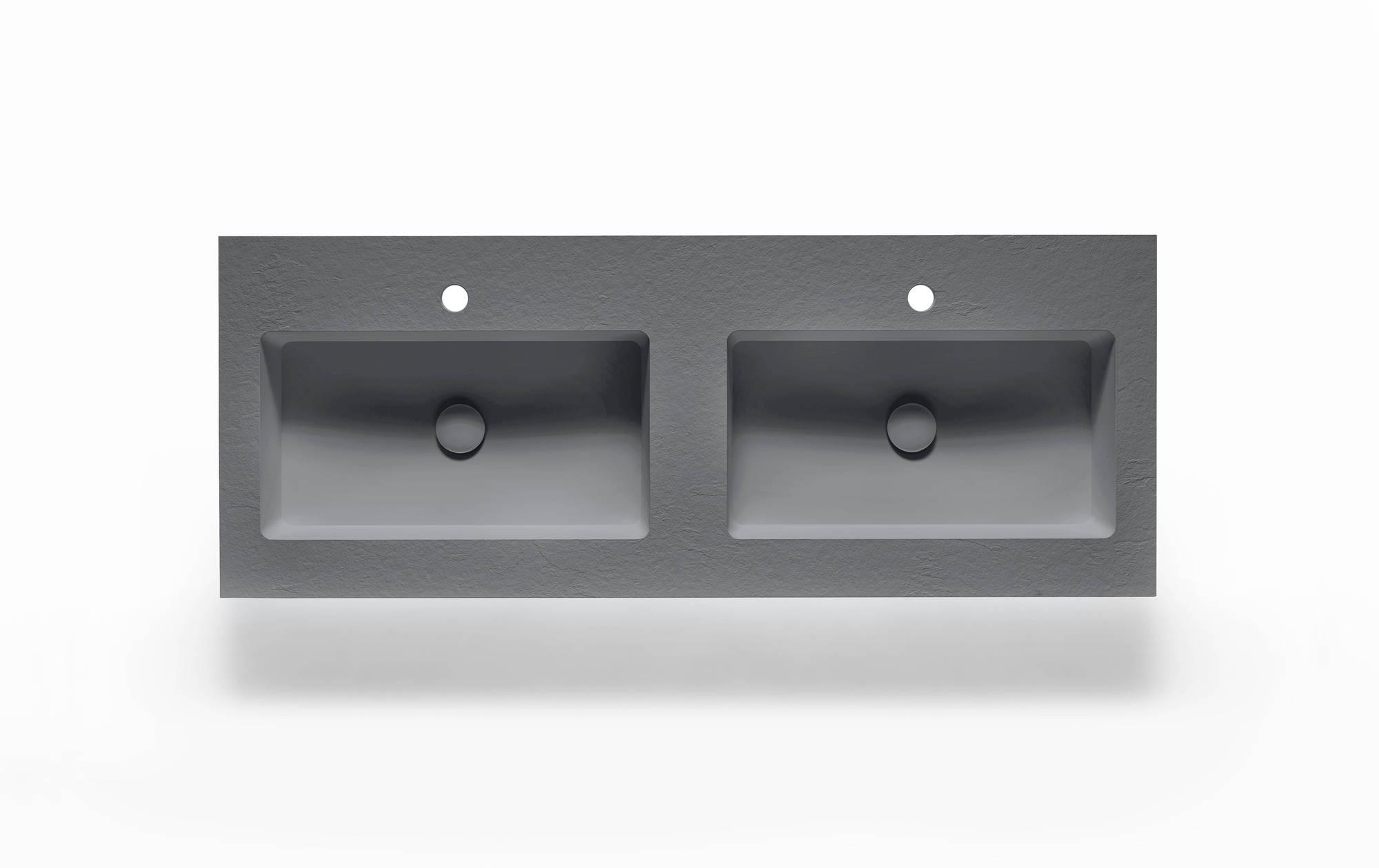 Ben Avira A1 Wastafel Akron 120,3x45x1,3 cm Cemento