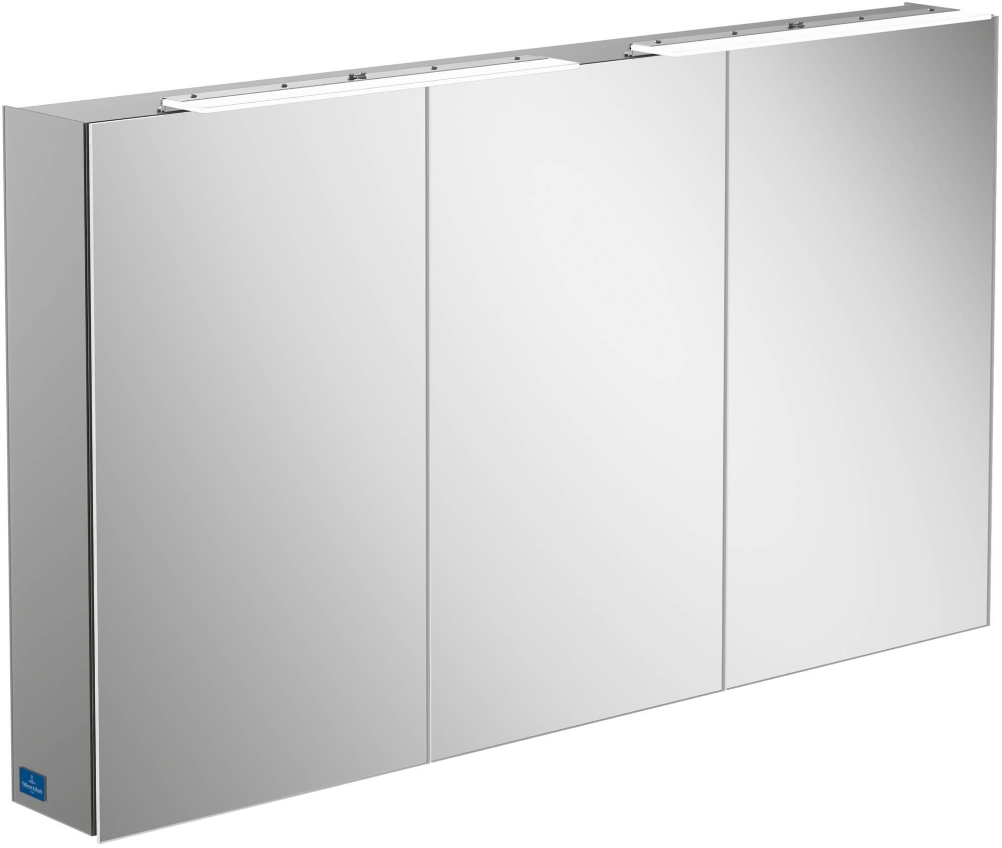 Villeroy & Boch My View One Spiegelkast 130x17,3x75 cm Aluminium-Look