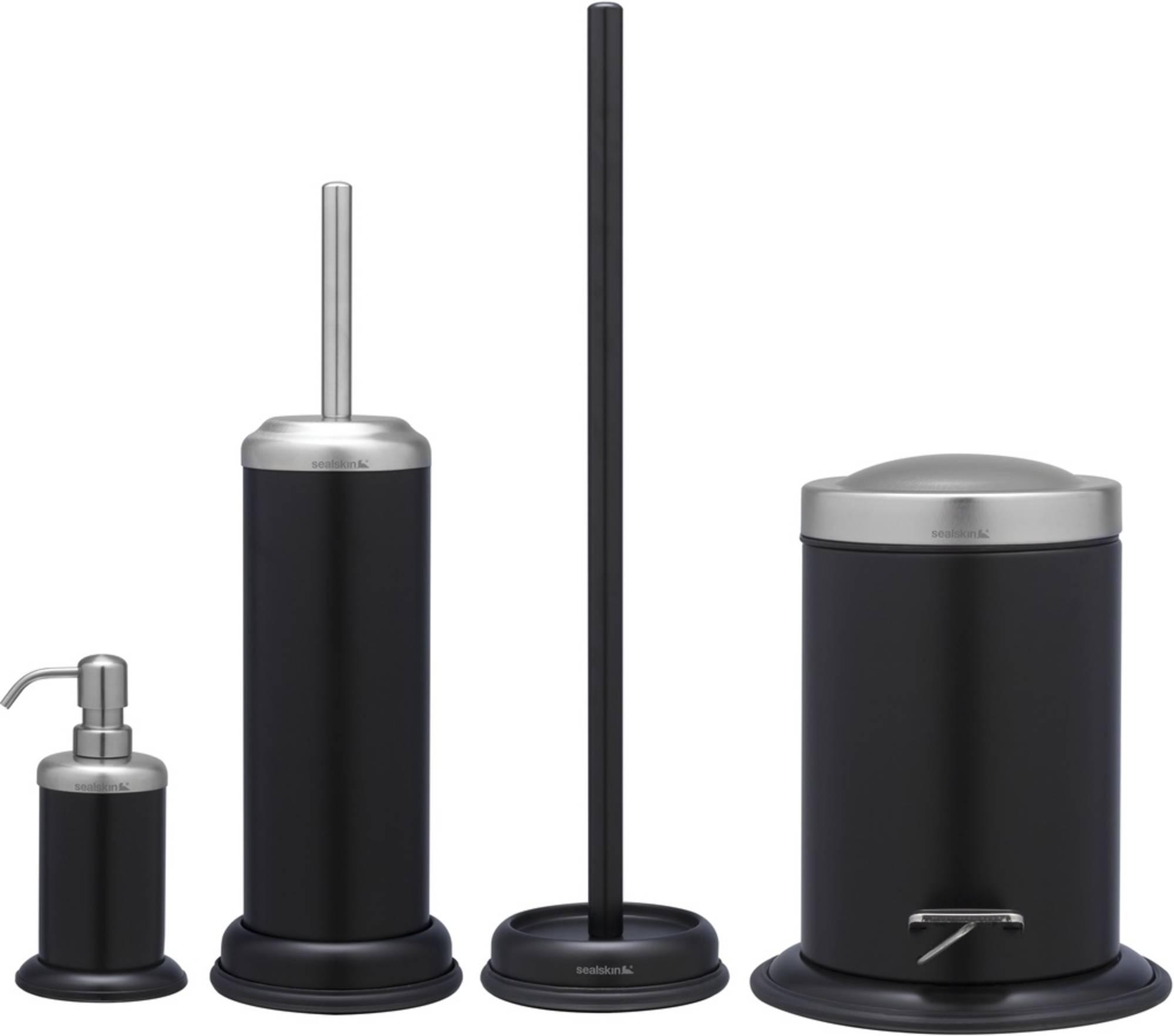 Sealskin Acero accessoireset 4-in-1 zwart