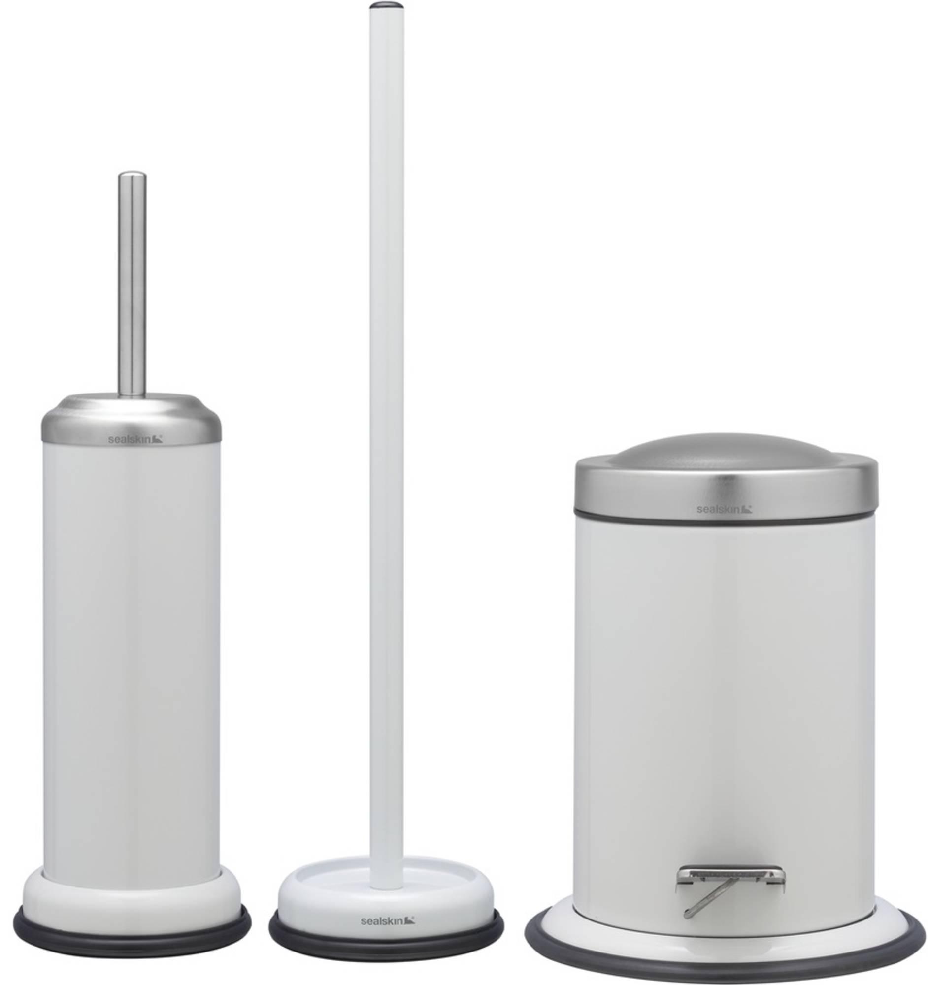 Sealskin Acero toilet accessoireset 3-in-1 wit