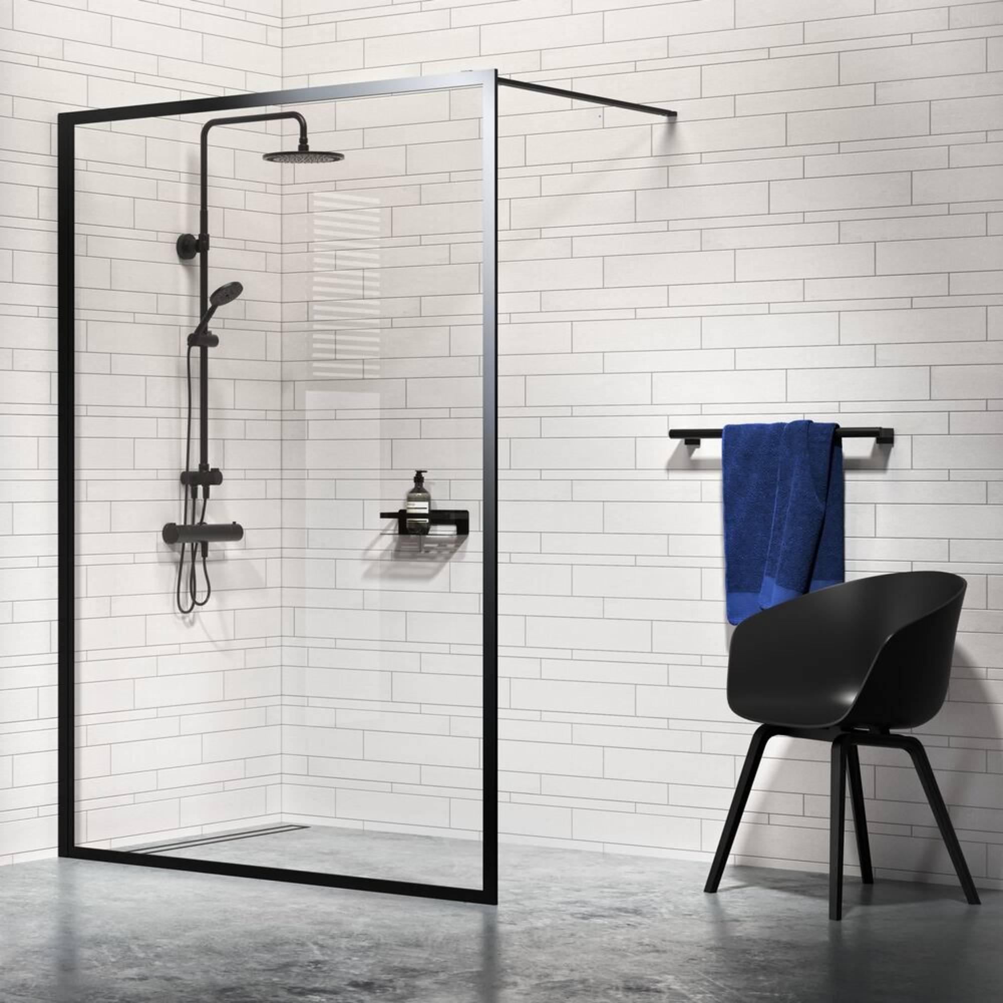 Sealskin Get Wet Contour Inloop Douche A3 90x200 cm Helder Glas/Mat Zwart
