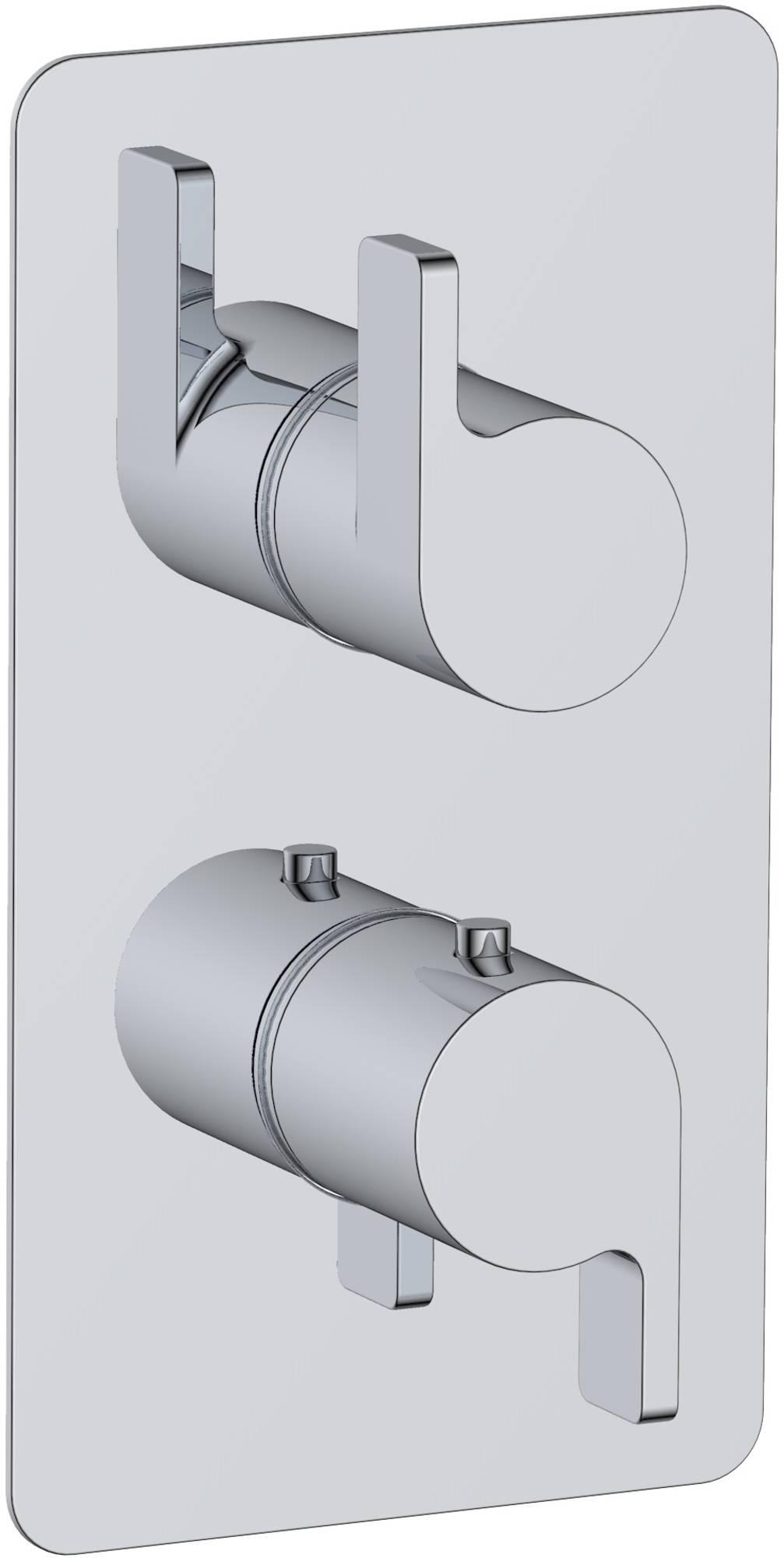 Ben Cenara Afdekset 3-weg omstelling voor douchethermostaat Chroom