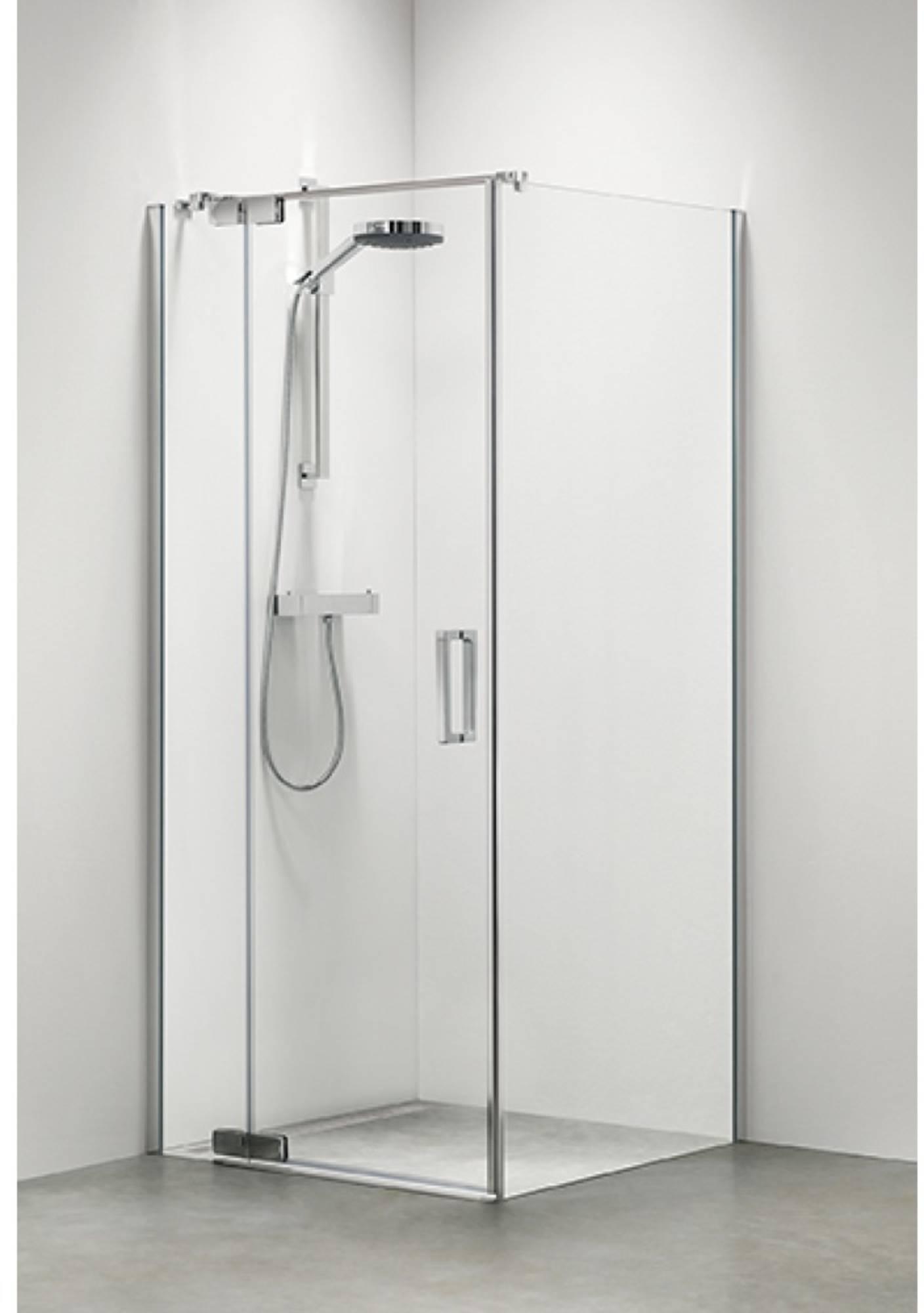 Sealskin Get Wet Custom douchecabine swingdeur links 90x195 cm zilver hoogglans helder glas