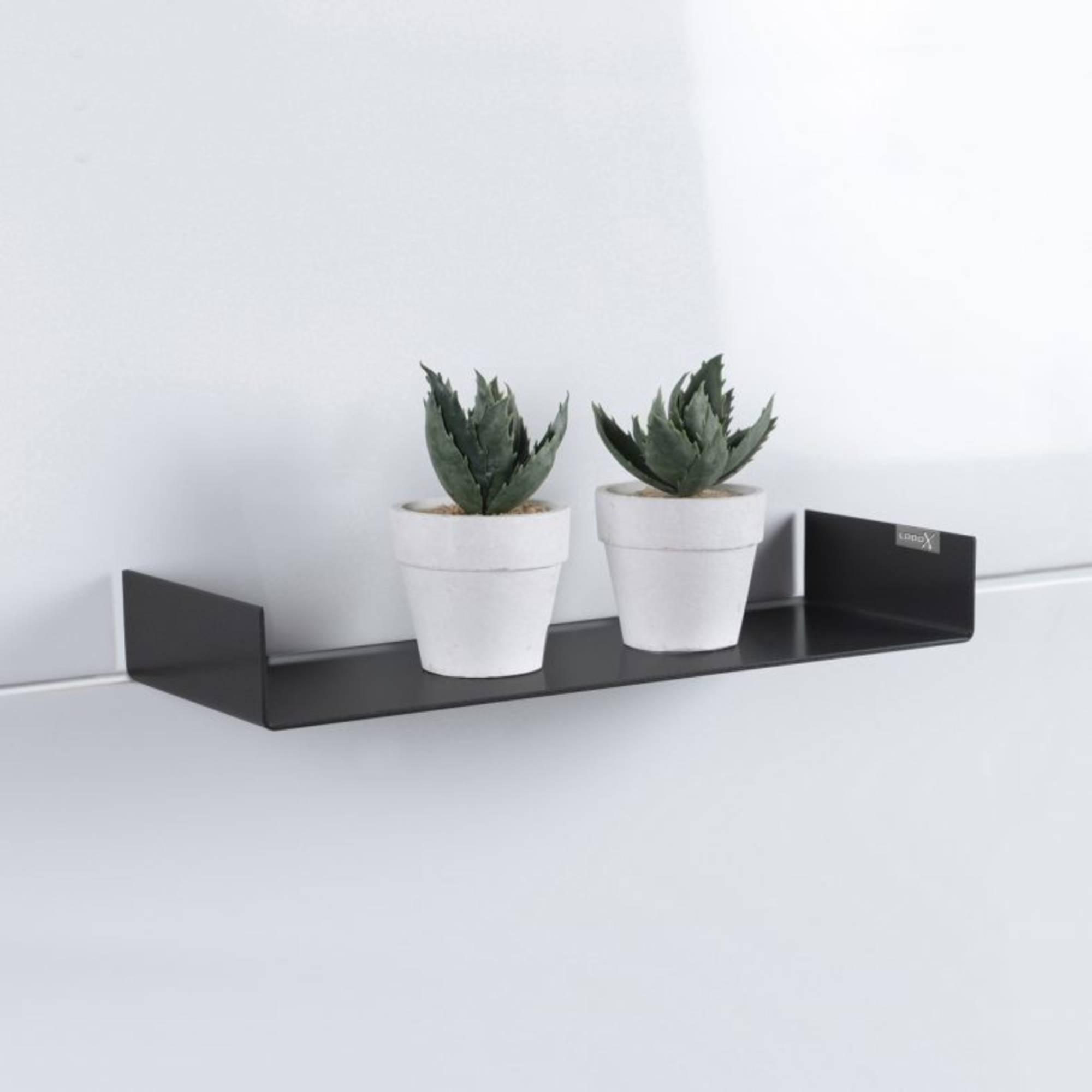 Looox Colour Shelf Inbouw Planchet 80x11,7x5 cm Mat Zwart