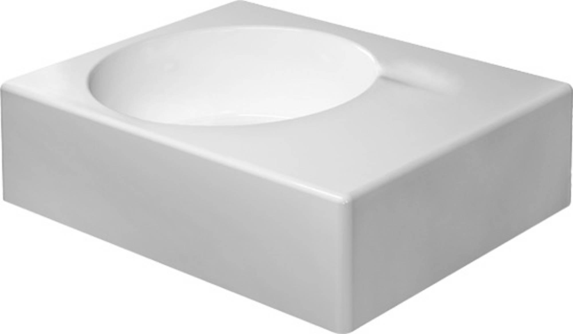 Duravit Scola wastafel 61,5x46 bak links zonder kraangat, wit