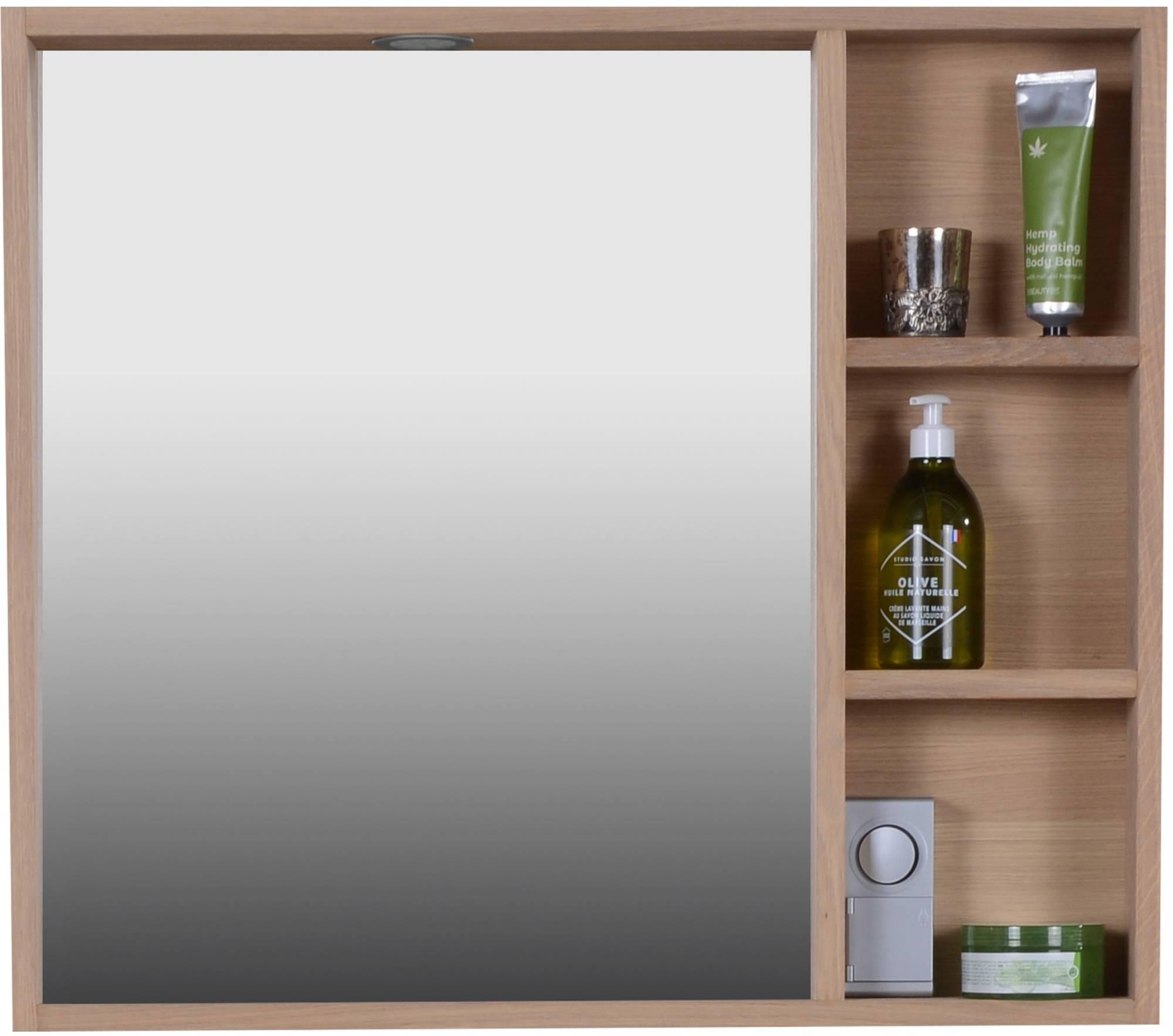 Van Heck New Country Spiegelkast met Regaal 80x12x70 cm Natural Eiken