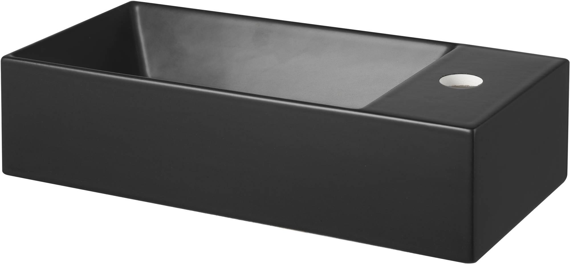 Saniselect Poggio Fontein 45x20x11 cm 1 Krg. Rechts Mat Zwart