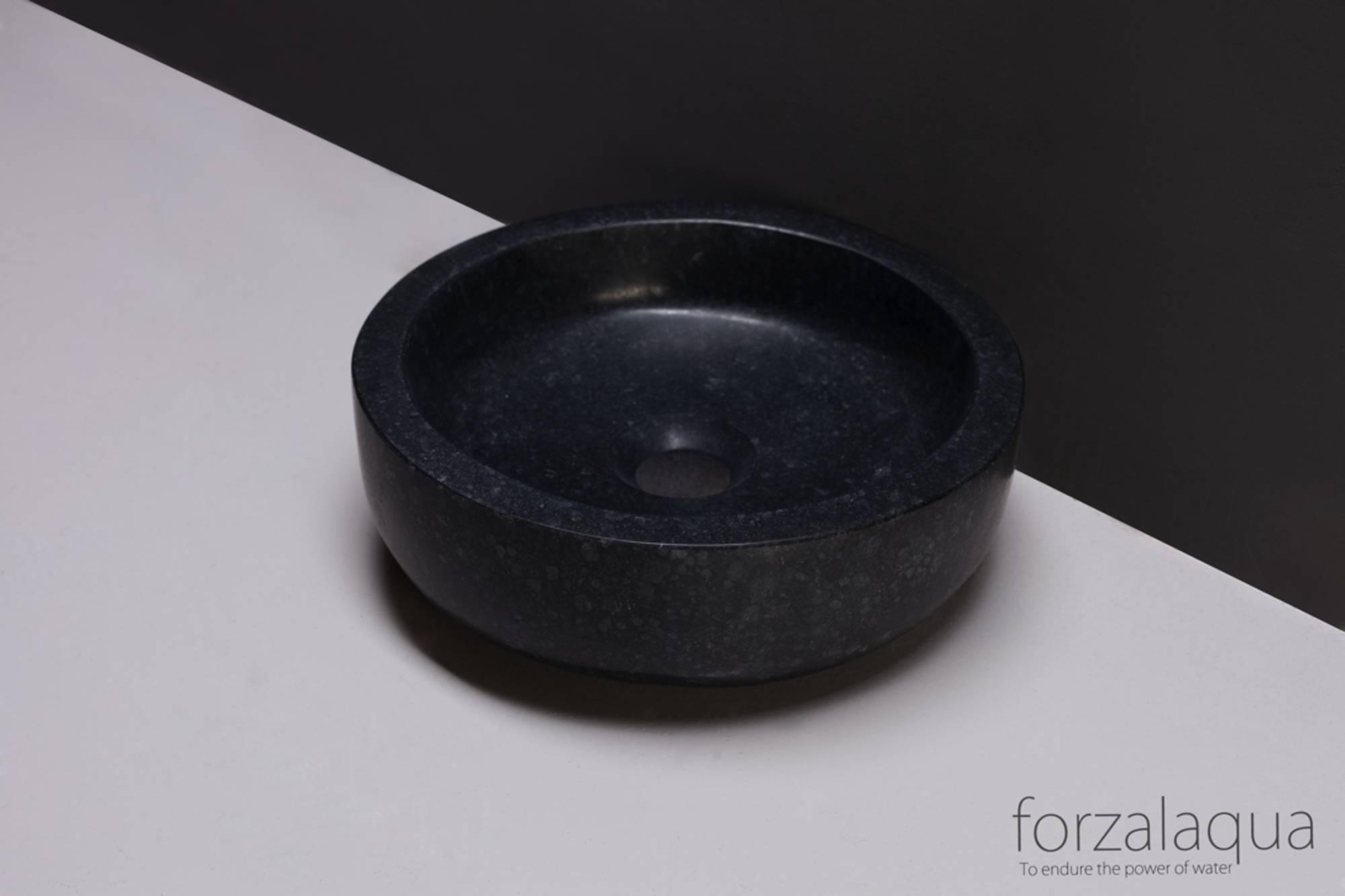 Forza Verona Opzetkom Ø40x12 cm Graniet gezoet