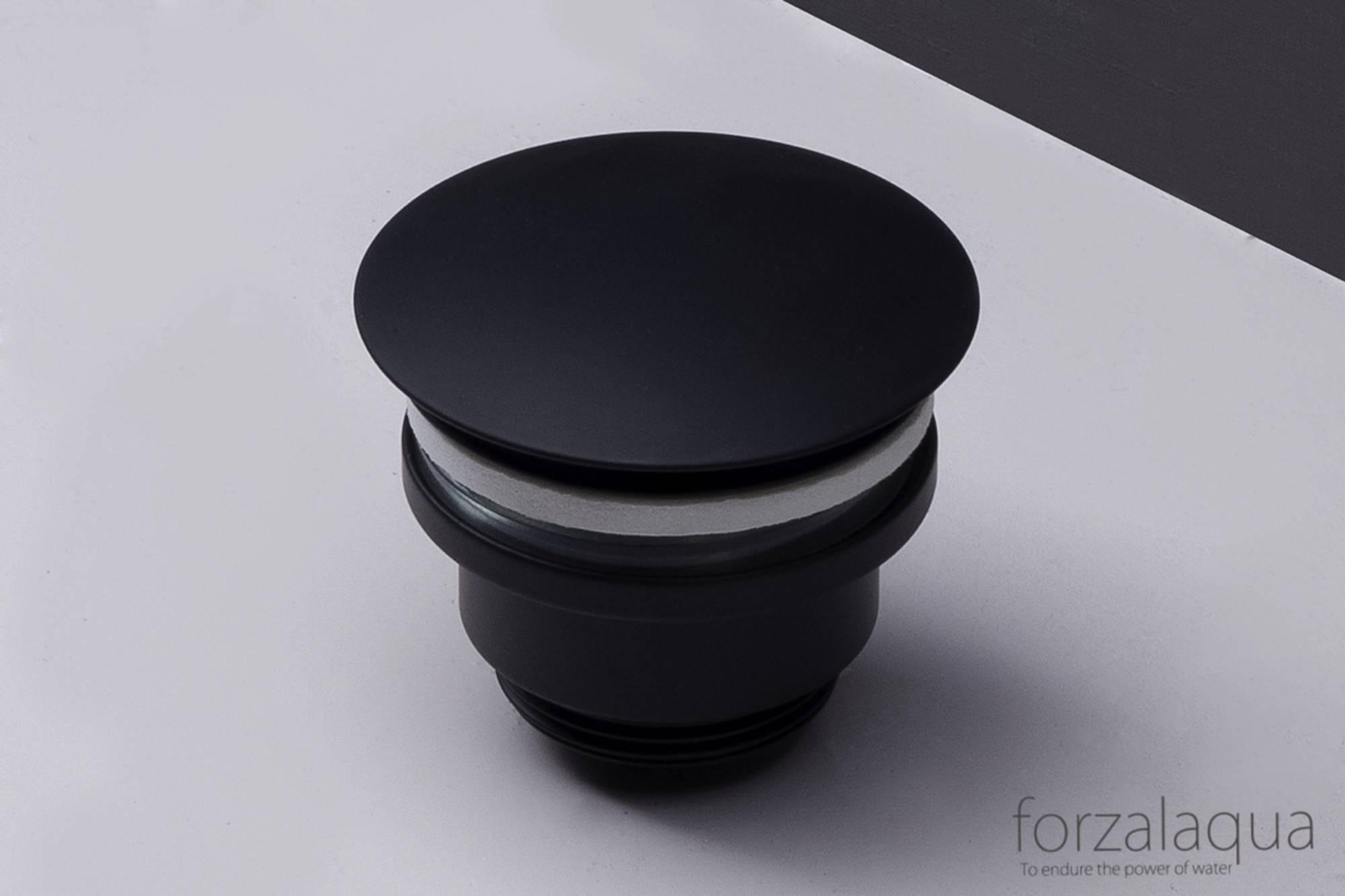 Forzalaqua Afvoerplug Chroom 5/4inch Altijd Open Zwart