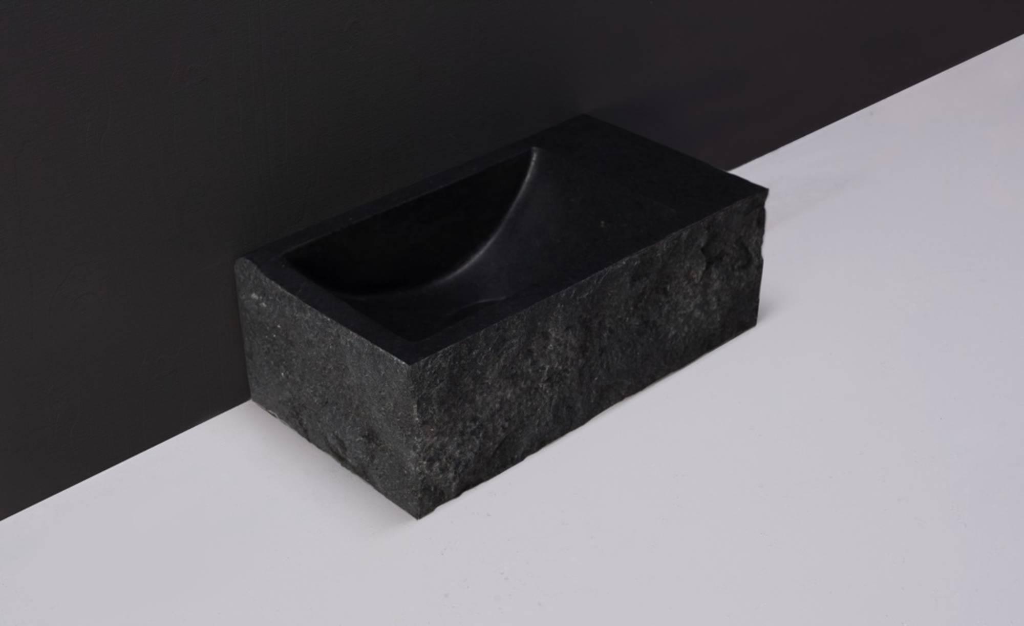 Forzalaqua Venetia Fontein met Gekapte Zijkanten Rechts 40x22x10 cm Antraciet