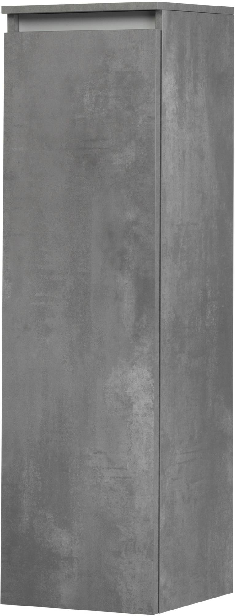 Saniselect Guarda Halfhoge Kast Links 35x34x120 cm Beton Grijs