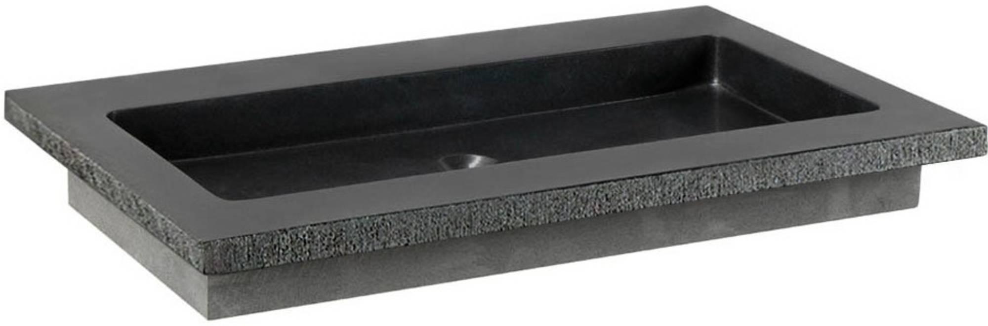 Ben Naturno Wastafel Graniet Gezoet Gefrijnd 60,5x51,5x3 cm 1 Krg. Zwart