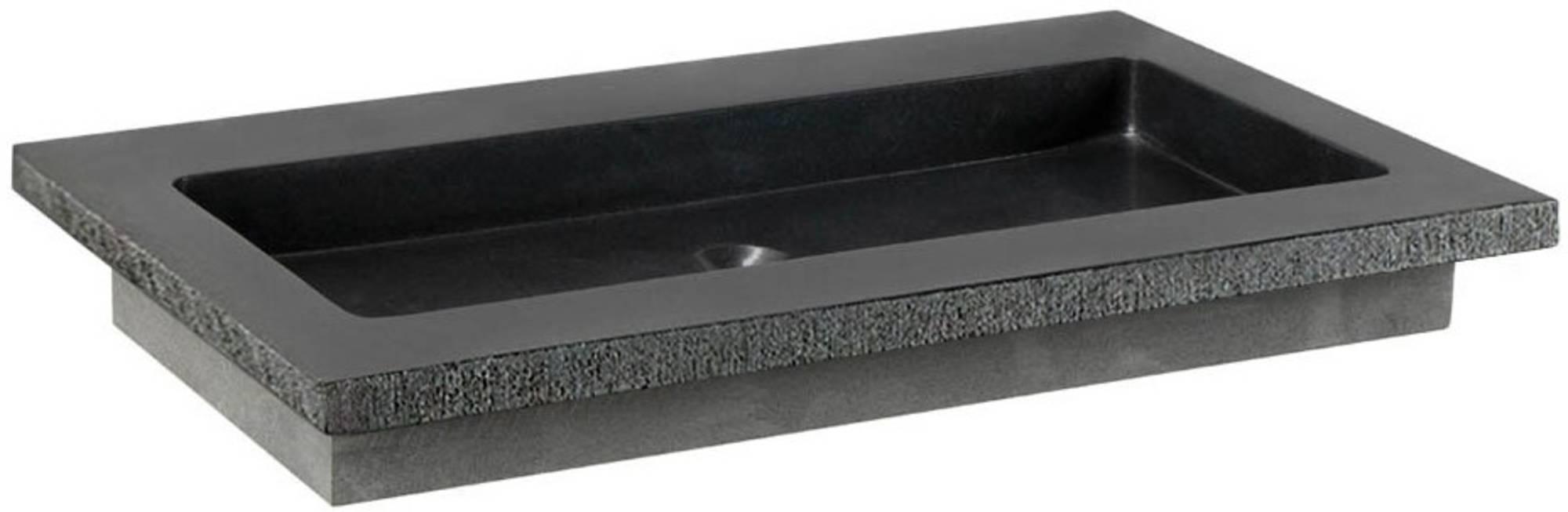 Ben Naturno Wastafel Graniet Gezoet Gefrijnd 80,5x51,5x3 cm zonder Krg. Zwart