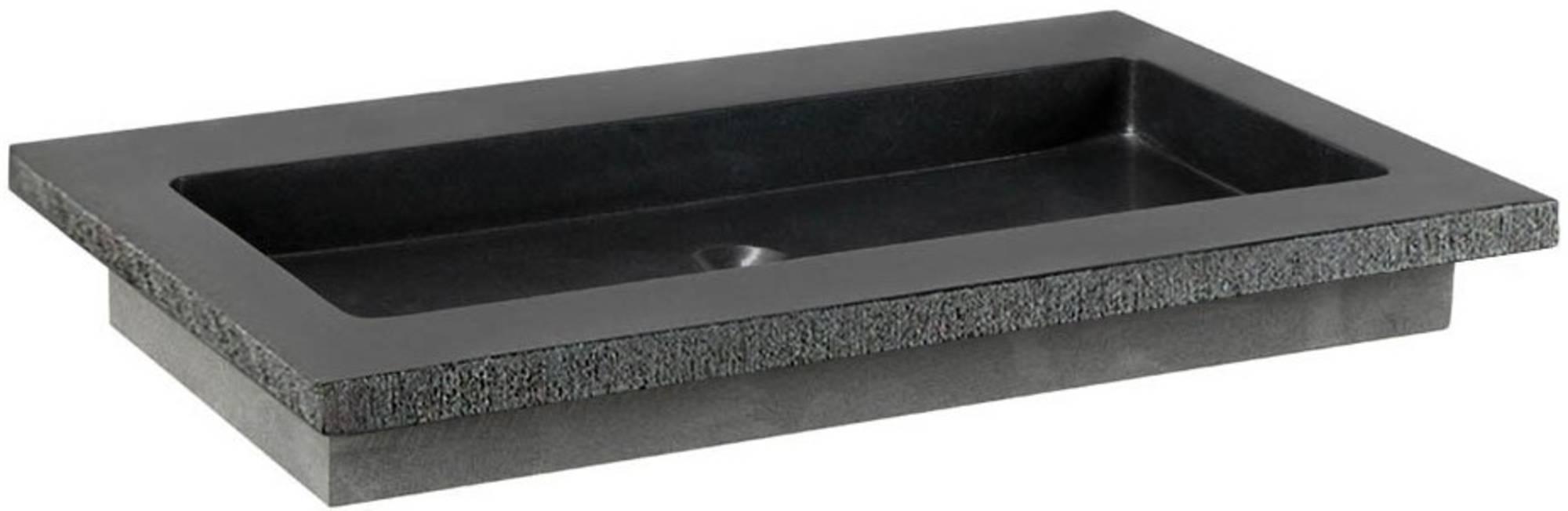 Ben Naturno Wastafel Graniet Gezoet Gefrijnd 80,5x51,5x3 cm 1 Krg. Zwart