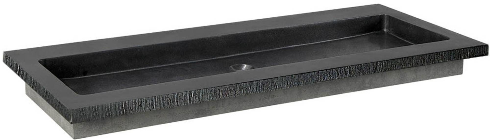 Ben Naturno Wastafel Graniet Gezoet Gefrijnd 100,5x51,5x3 cm zonder Krg. Zwart