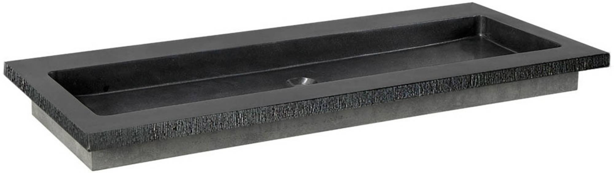 Ben Naturno Wastafel Graniet Gezoet Gefrijnd 100,5x51,5x3 cm 1 Krg. Zwart