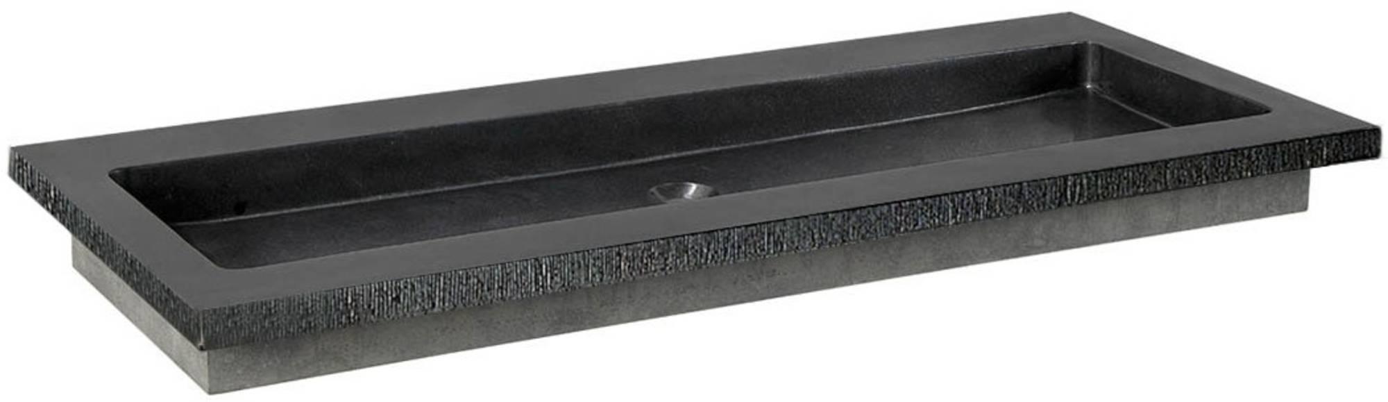 Ben Naturno Wastafel Graniet Gezoet Gefrijnd 100,5x51,5x3 cm 2 Krg. Zwart