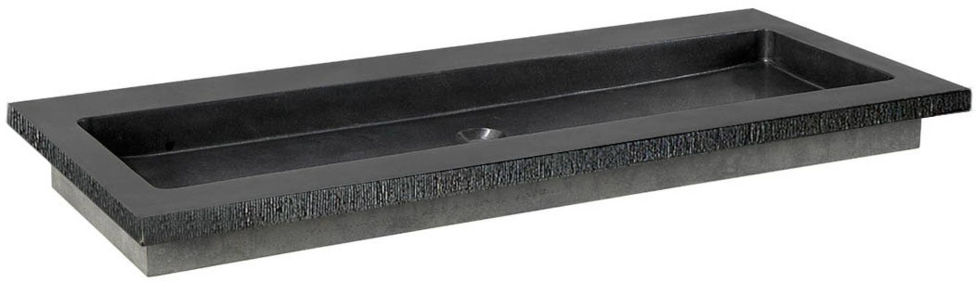 Ben Naturno Wastafel Graniet Gezoet Gefrijnd 120,5x51,5x3 cm zonder Krg. Zwart