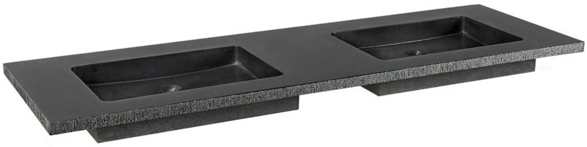 Ben Naturno Wastafel Graniet Gezoet Gefrijnd 140,5x51,5x3 cm zonder Krg. Zwart
