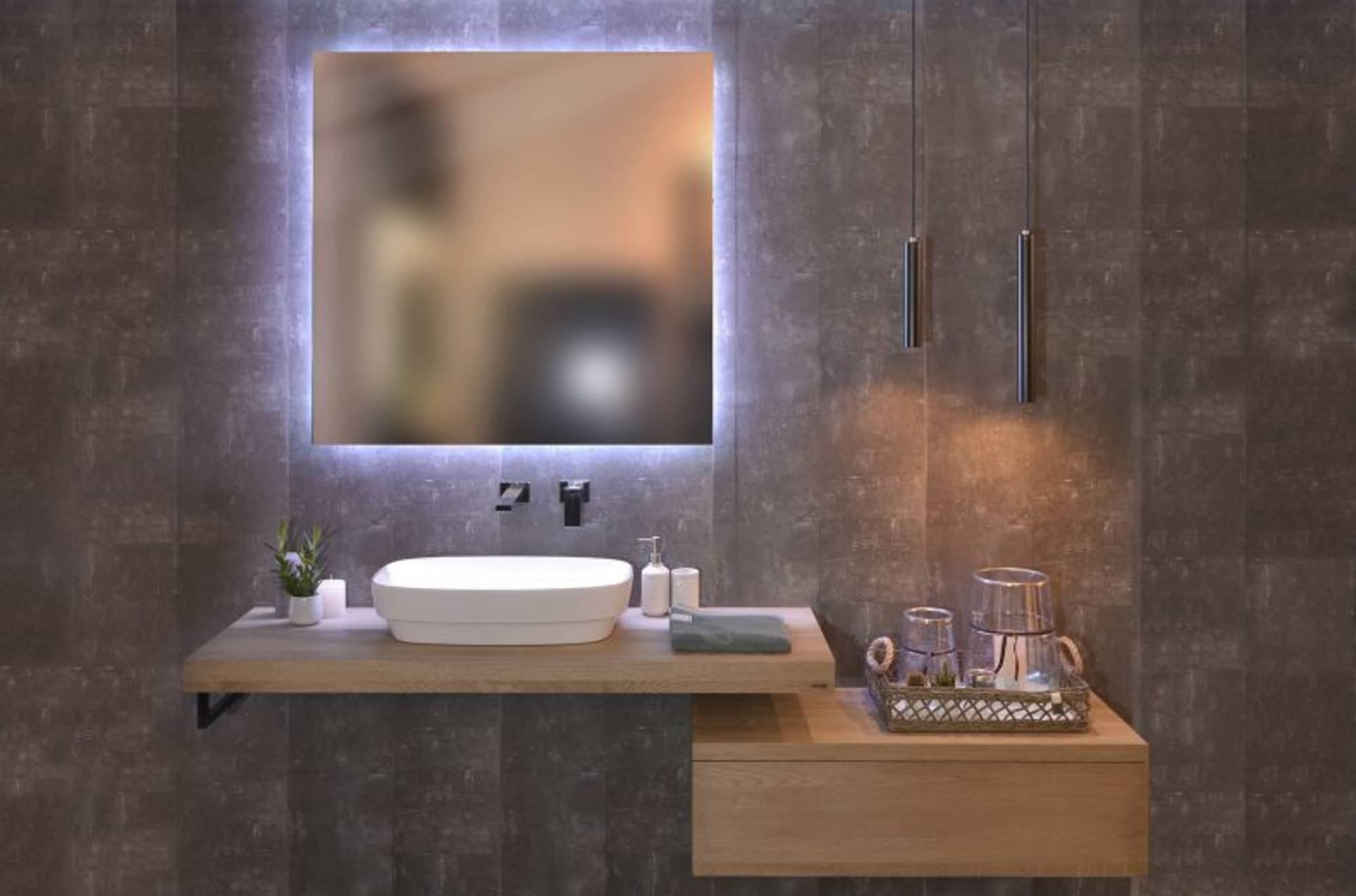 Looox L7-Line Spiegel met Verlichting 30x30 cm