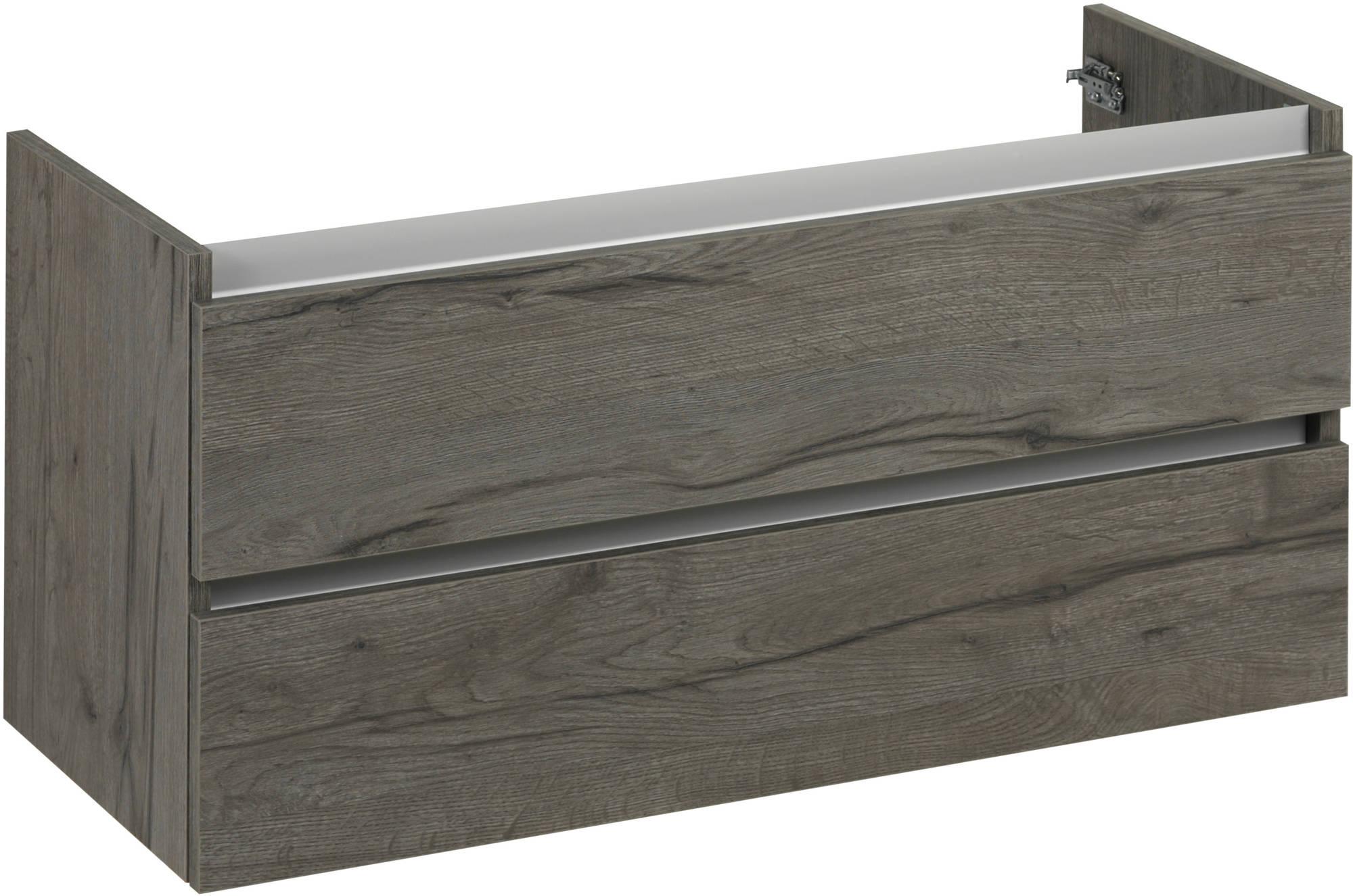 Ben Limara Wastafelonderkast 100x44,5x50cm Cape Elm/Aluminium
