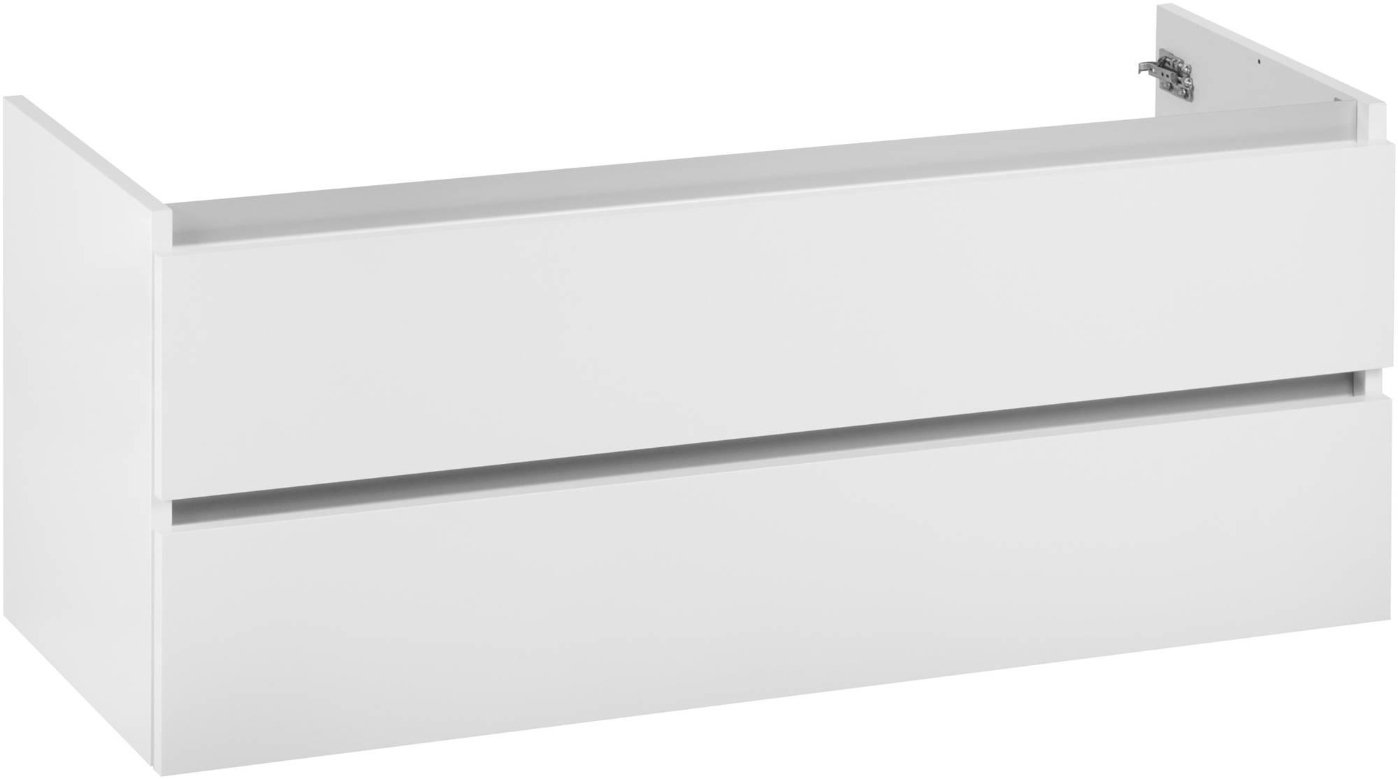 Ben Limara Wastafelonderkast 120x44,5x50cm Glans Wit/Aluminium