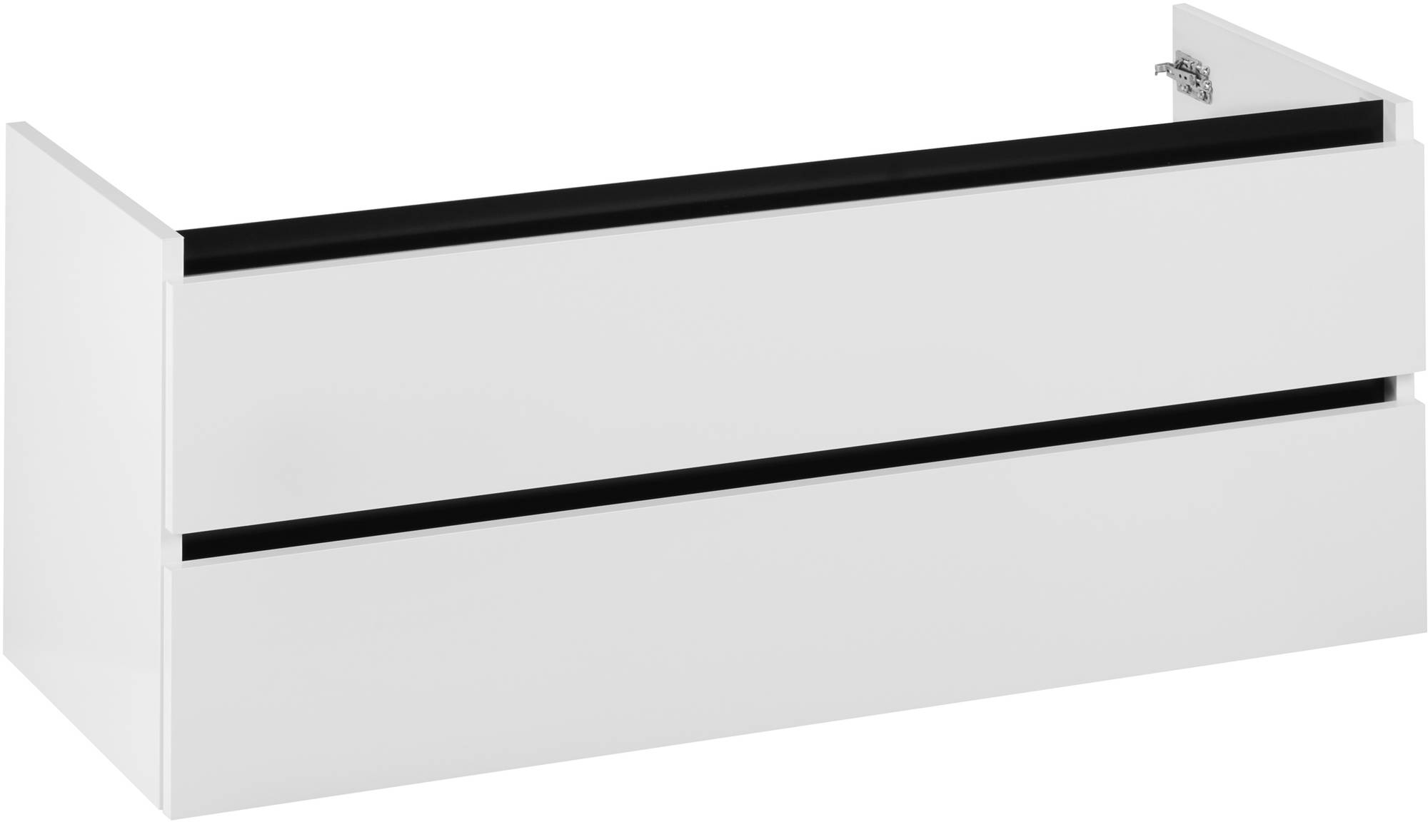 Ben Limara Wastafelonderkast 120x44,5x50cm Glans Wit/Mat zwart