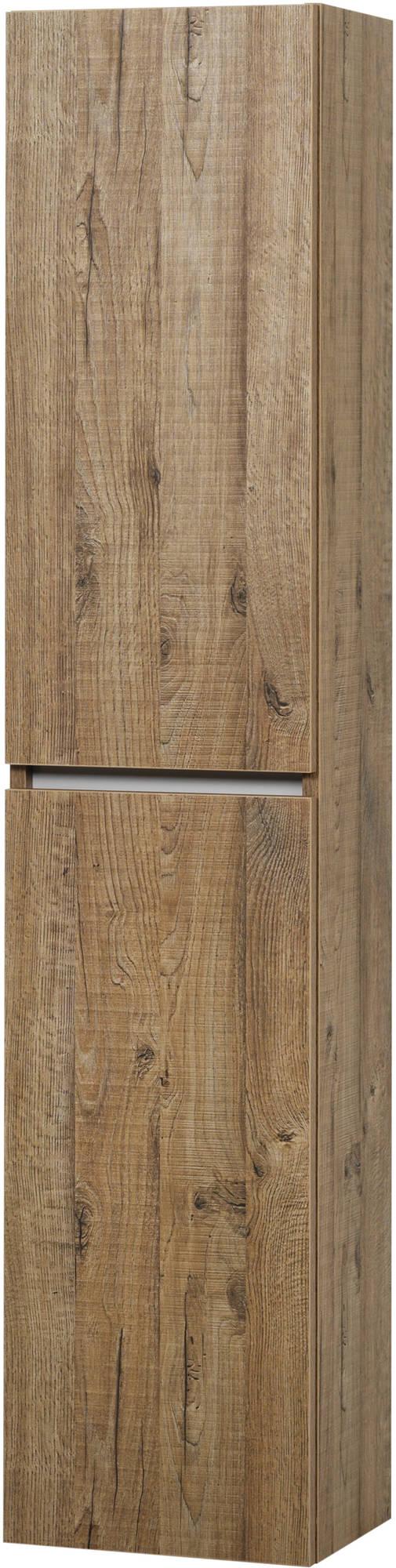 Ben Limara Hoge kast links 35x29x165 cm Sherwood/Aluminium