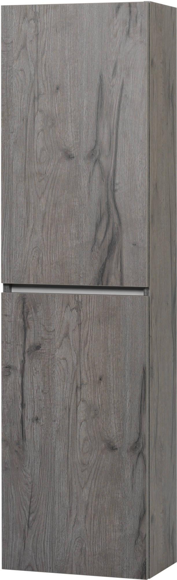 Ben Limara Hoge kast links 45x29x165 cm Cape Elm/Aluminium
