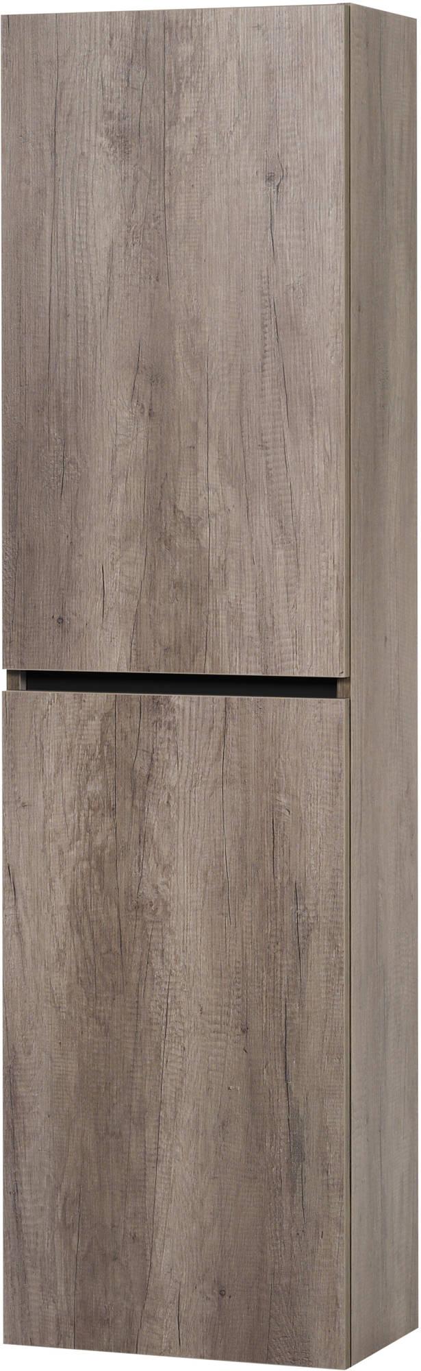 Ben Limara Hoge kast Links, 45x29x165 cm, Nebraska Eiken/Mat Zwart