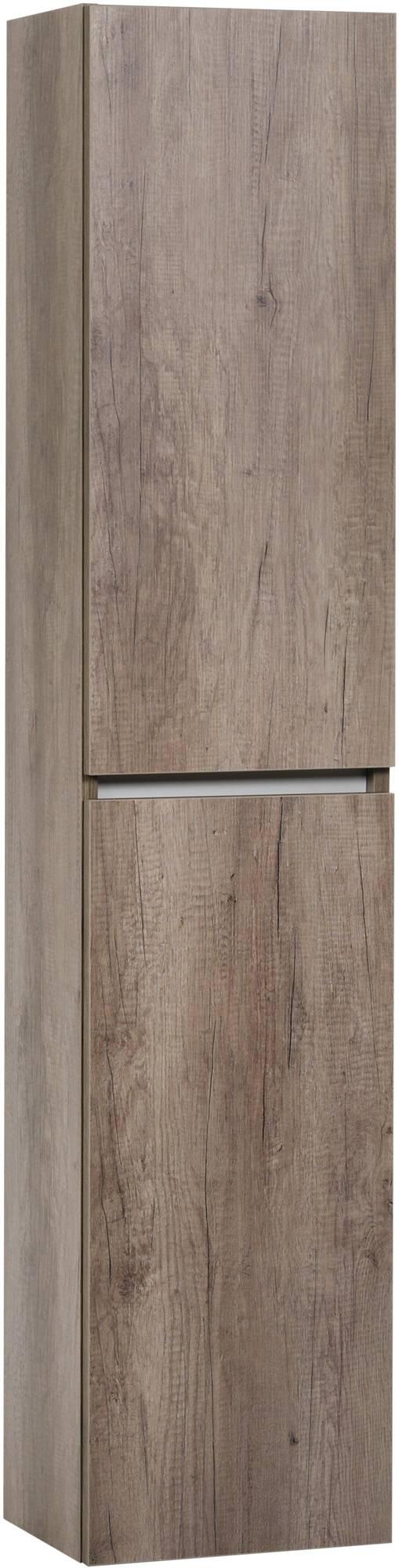 Ben Limara Hoge kast rechts 35x29x165 cm Nebraska Eiken/Aluminium