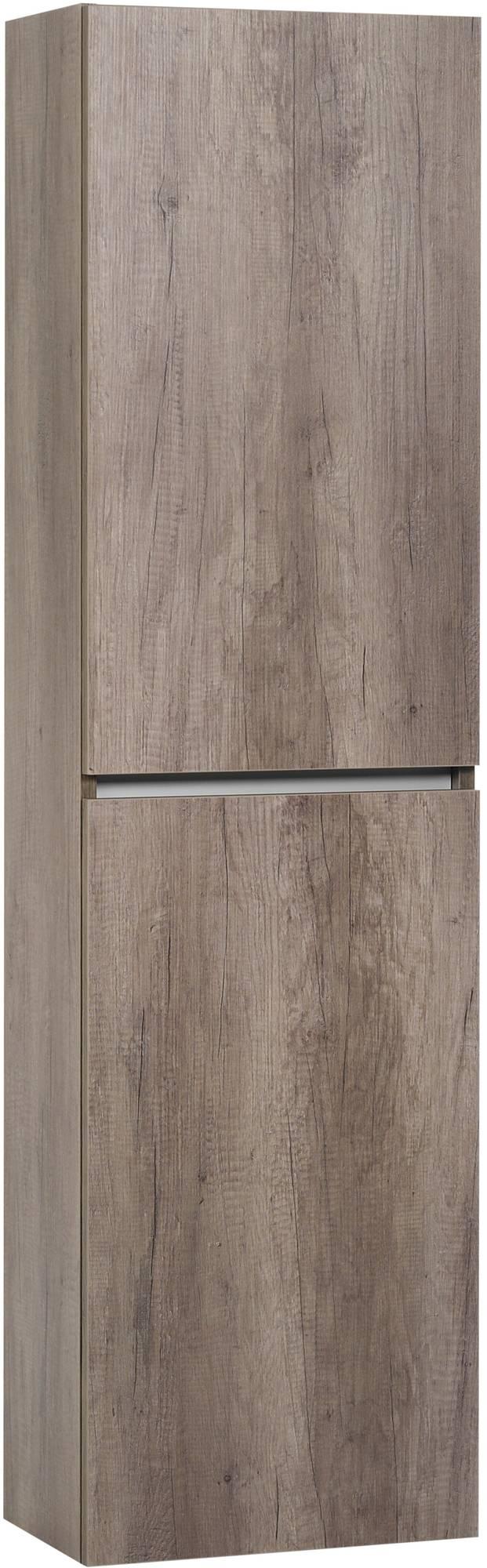 Ben Limara Hoge kast rechts 45x29x165 cm Nebraska Eiken/Aluminium