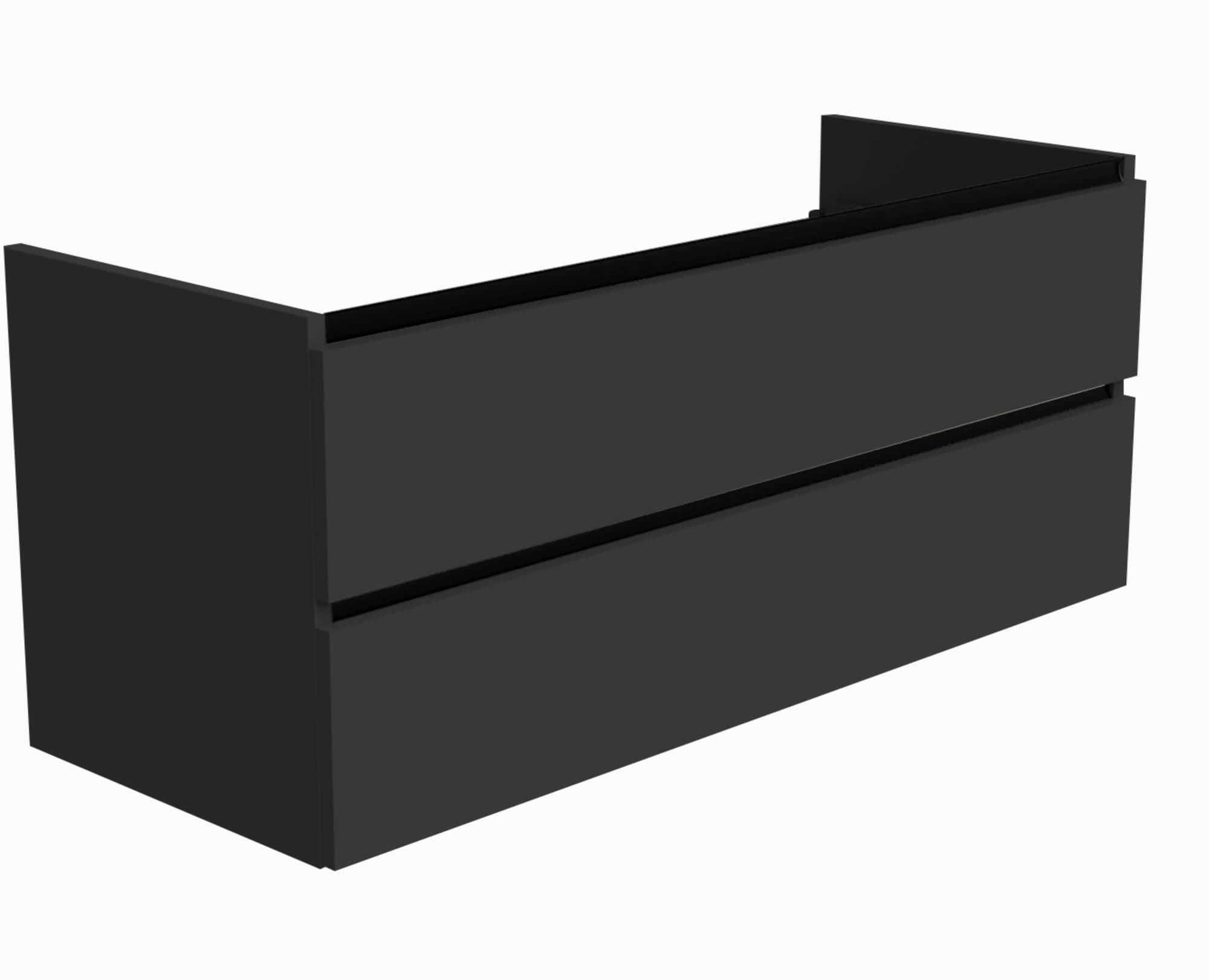 Ben Limara Wastafelonderkast 2 laden, 120x44,5x50 cm, Mat Zwart/Mat Zwart