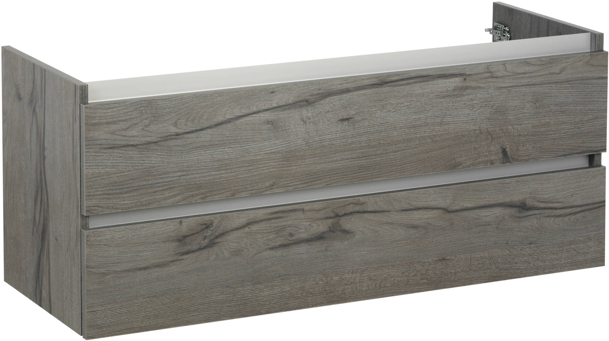 Ben Limara Wastafelonderkast 120x44,5x50cm Cape Elm/Aluminium