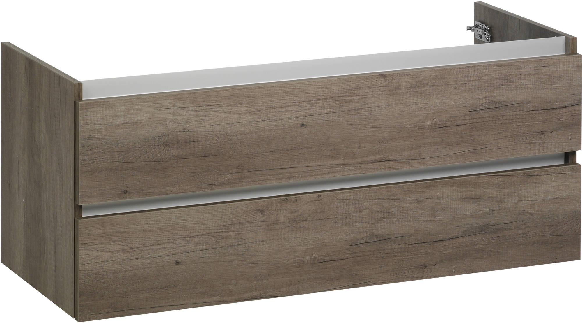 Ben Limara Wastafelonderkast 120x44,5x50cm Nebraska Eiken/Aluminium