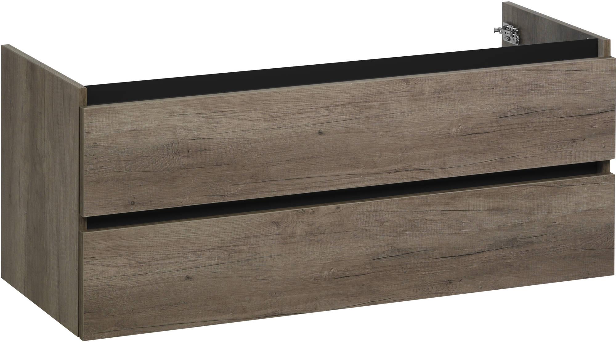 Ben Limara Wastafelonderkast 2 laden, 140x44,5x50 cm, Nebraska Eiken mat zwart