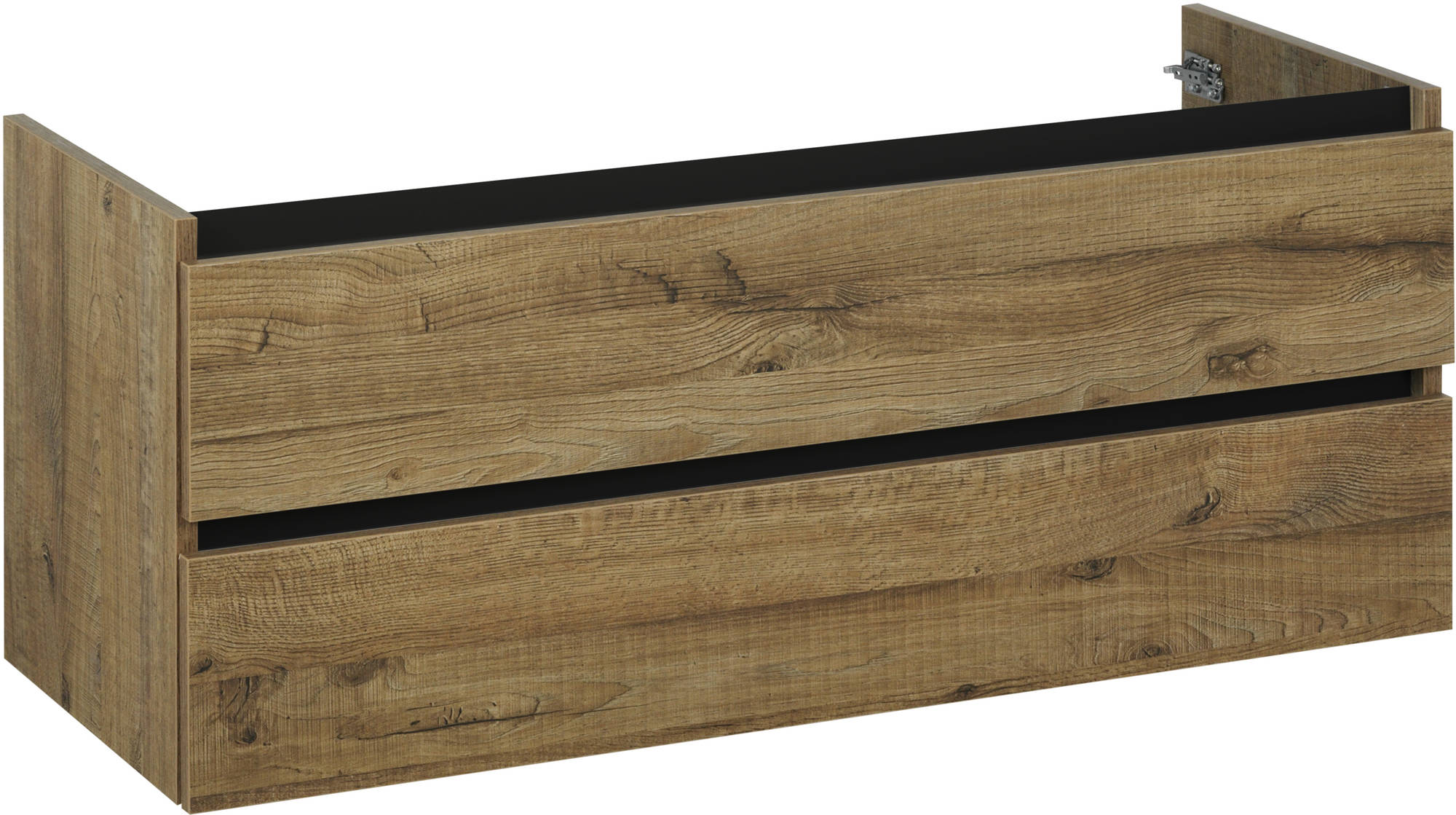Ben Limara Wastafelonderkast 2 laden, 140x44,5x50 cm, Sherwood mat zwart