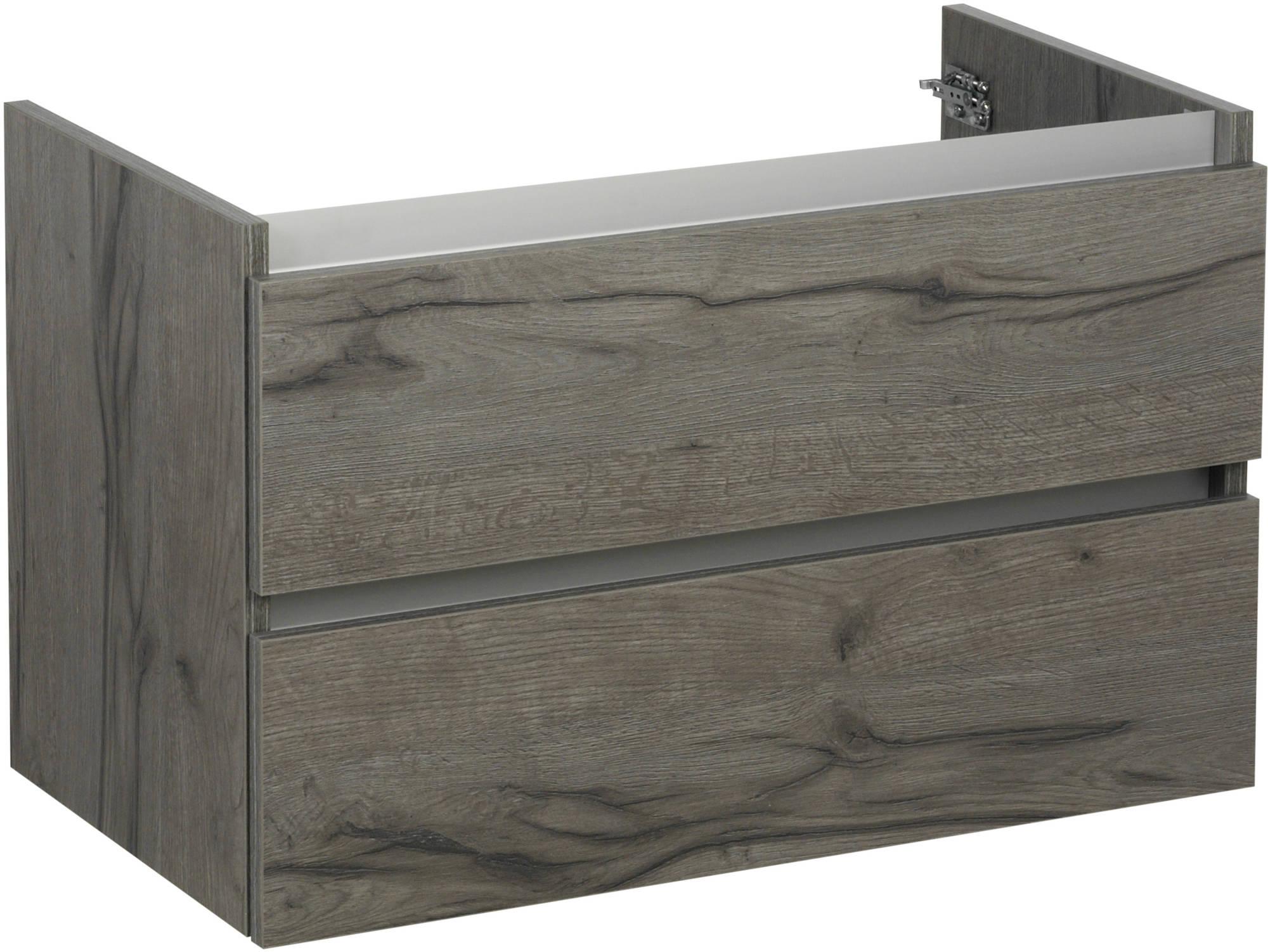 Ben Limara Wastafelonderkast 60x44,5x50cm Cape Elm/Aluminium